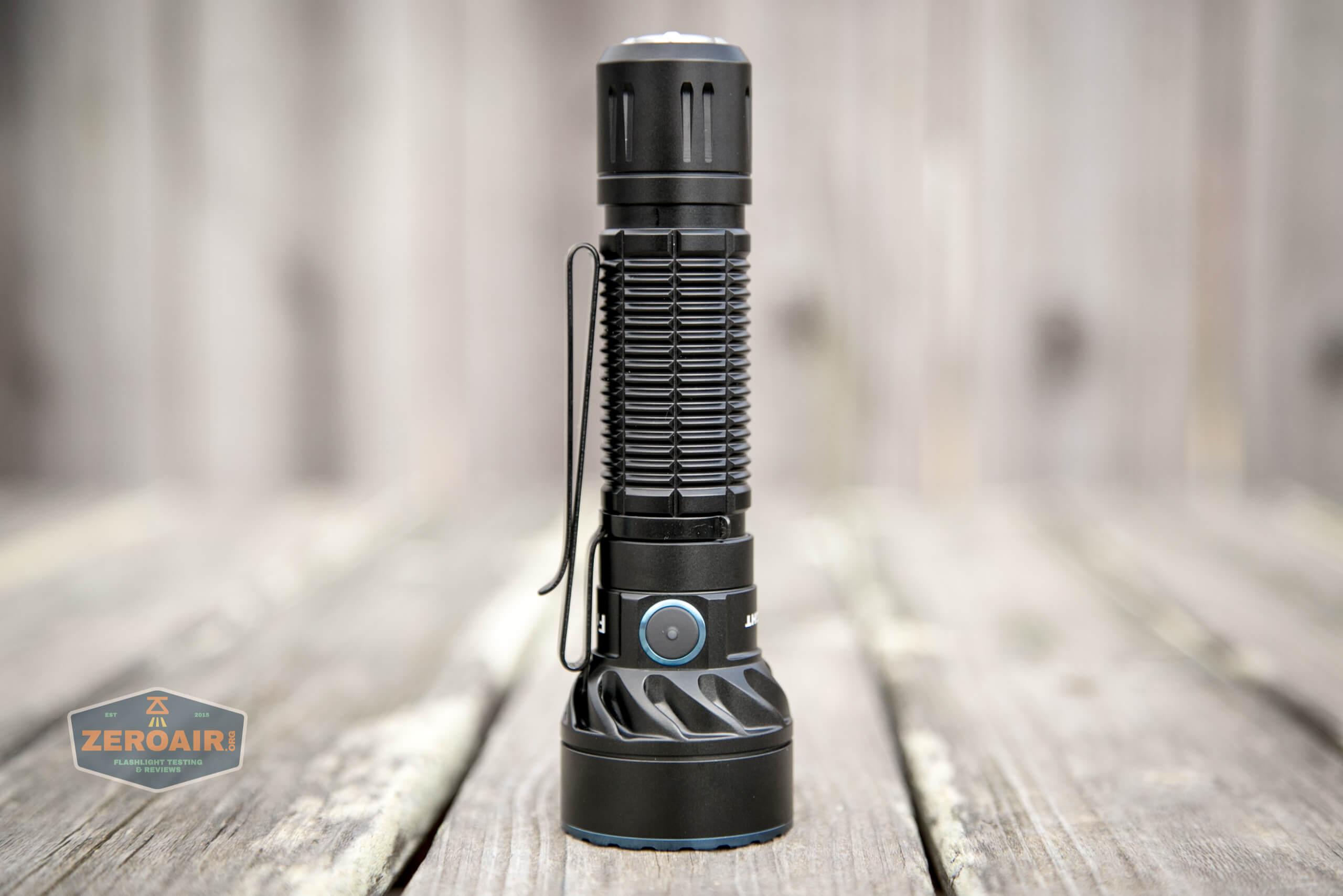 olight freyr rgb flashlight clip installed