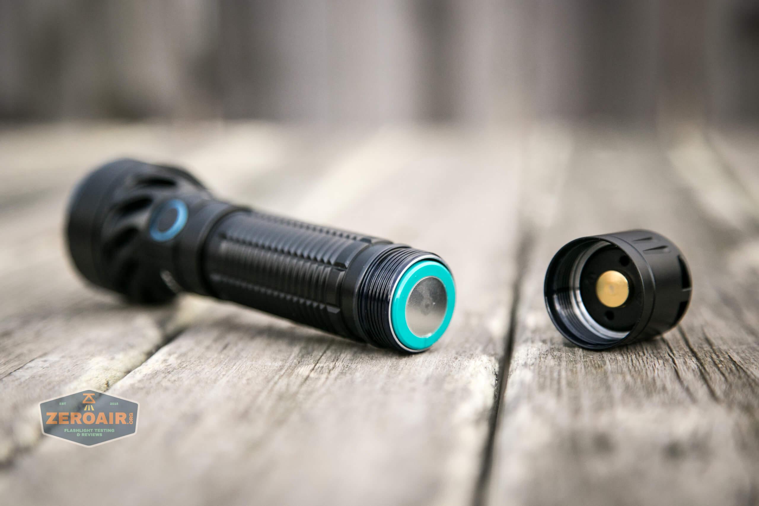 olight freyr rgb flashlight cell install direction