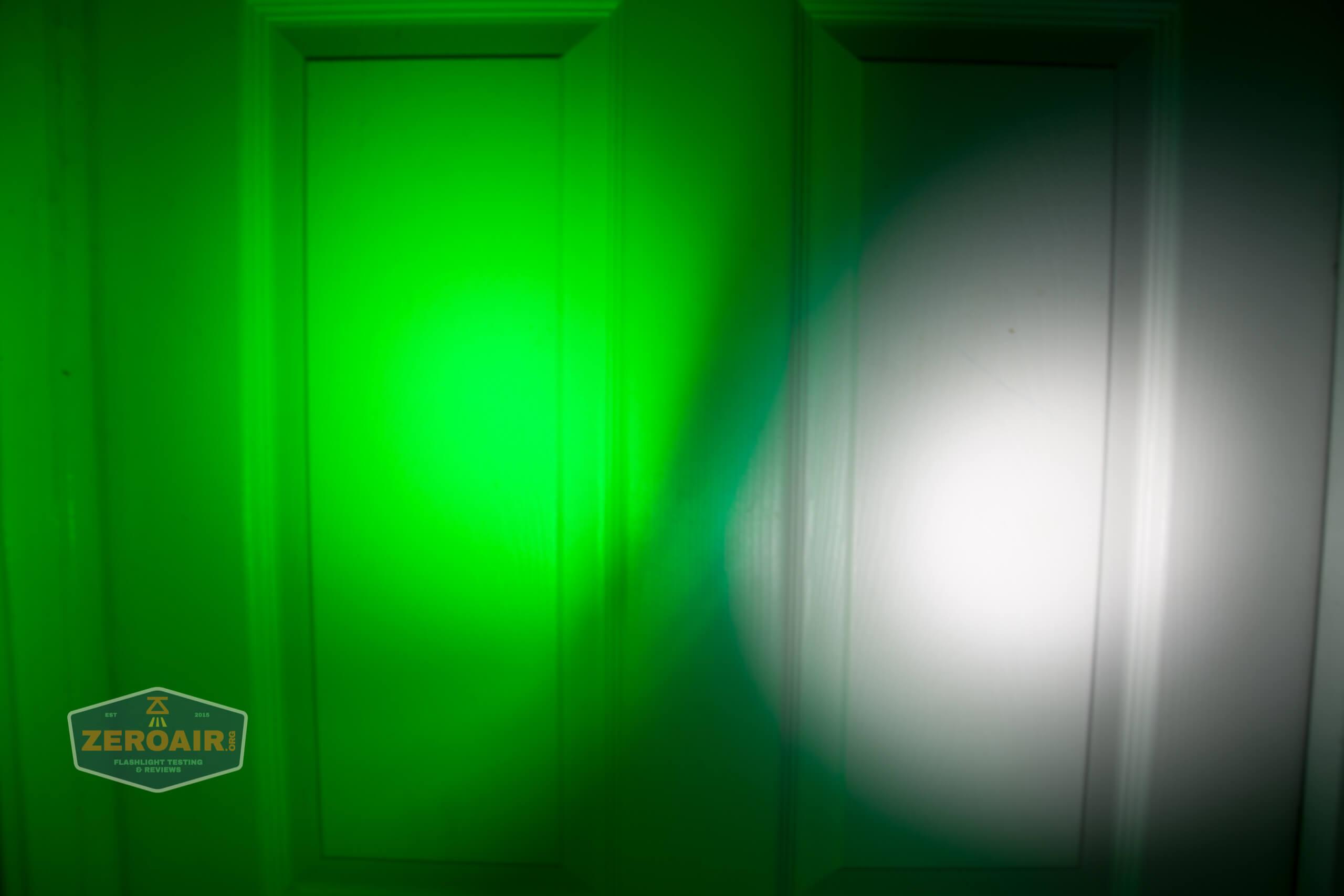olight freyr rgb flashlight door beamshots 5