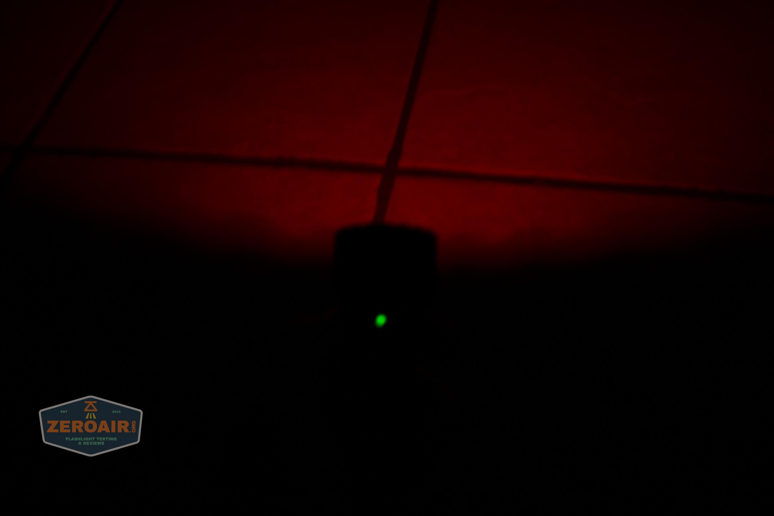 olight freyr rgb flashlight side e-switch indicating green