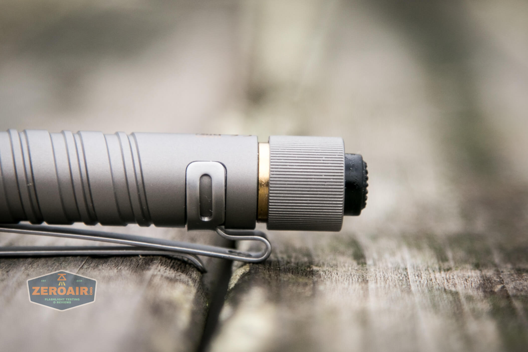 olight i3t eos titanium aaa flashlight brass