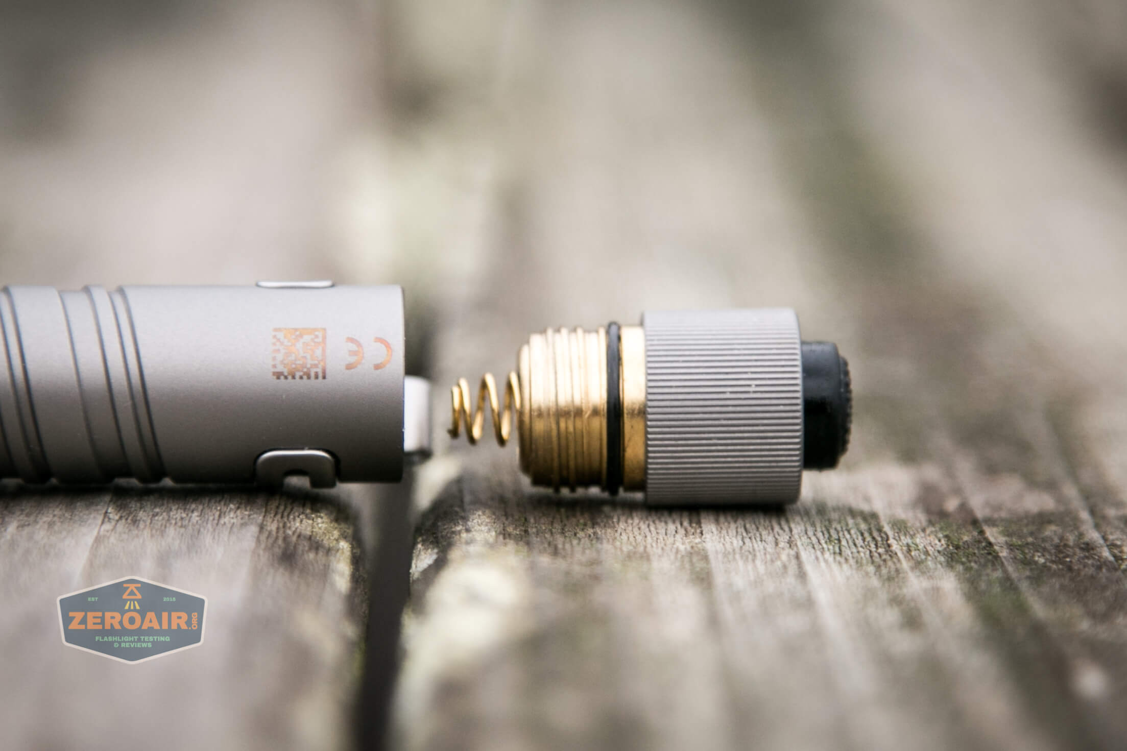 olight i3t eos titanium aaa flashlight brass threads