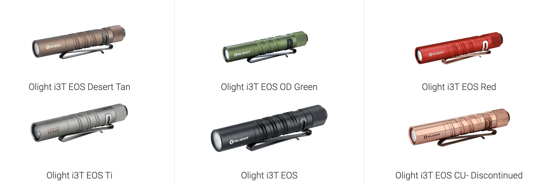 olight i3t eos titanium aaa flashlight versions