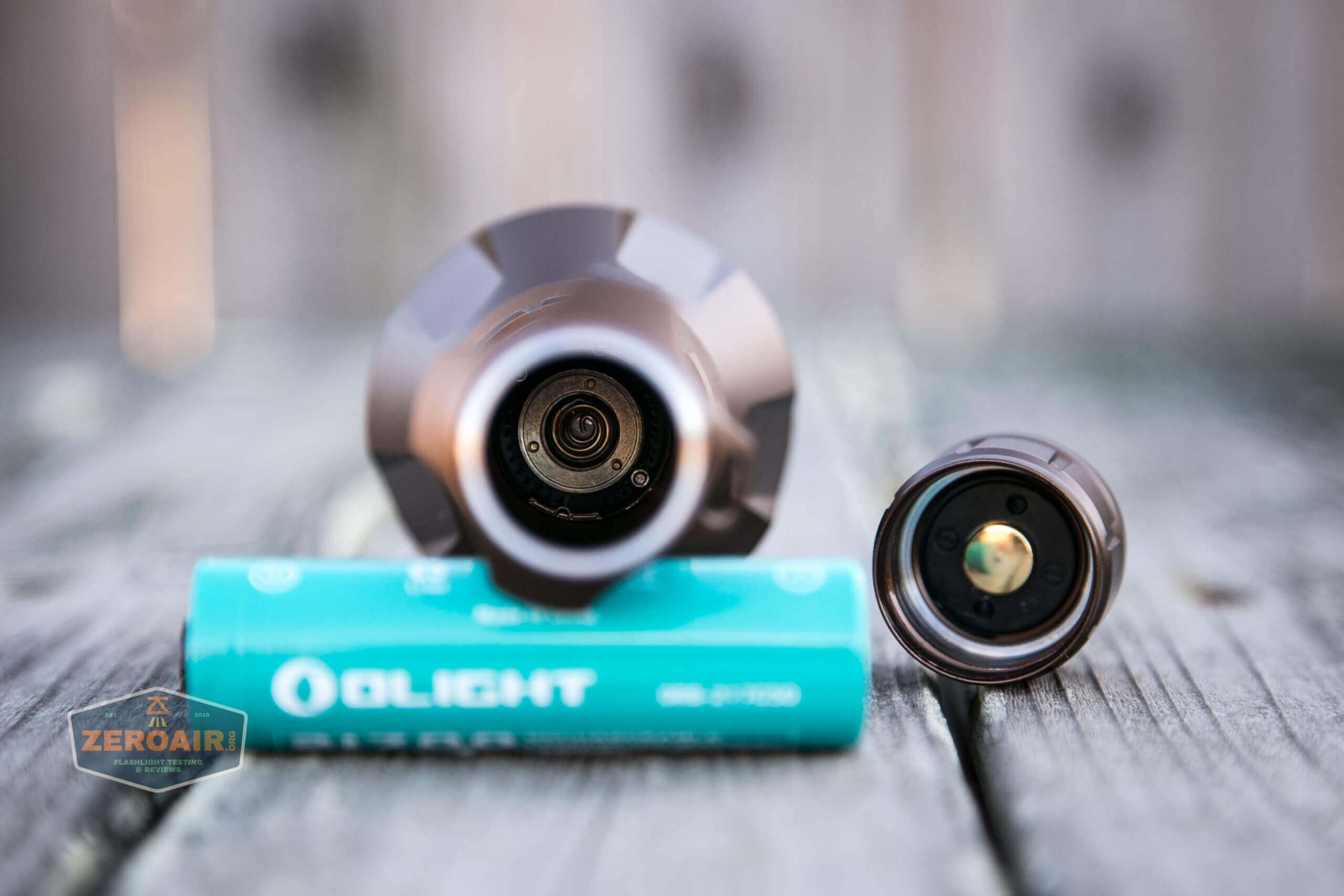 olight warrior x turbo desert tan flashlight head contacts