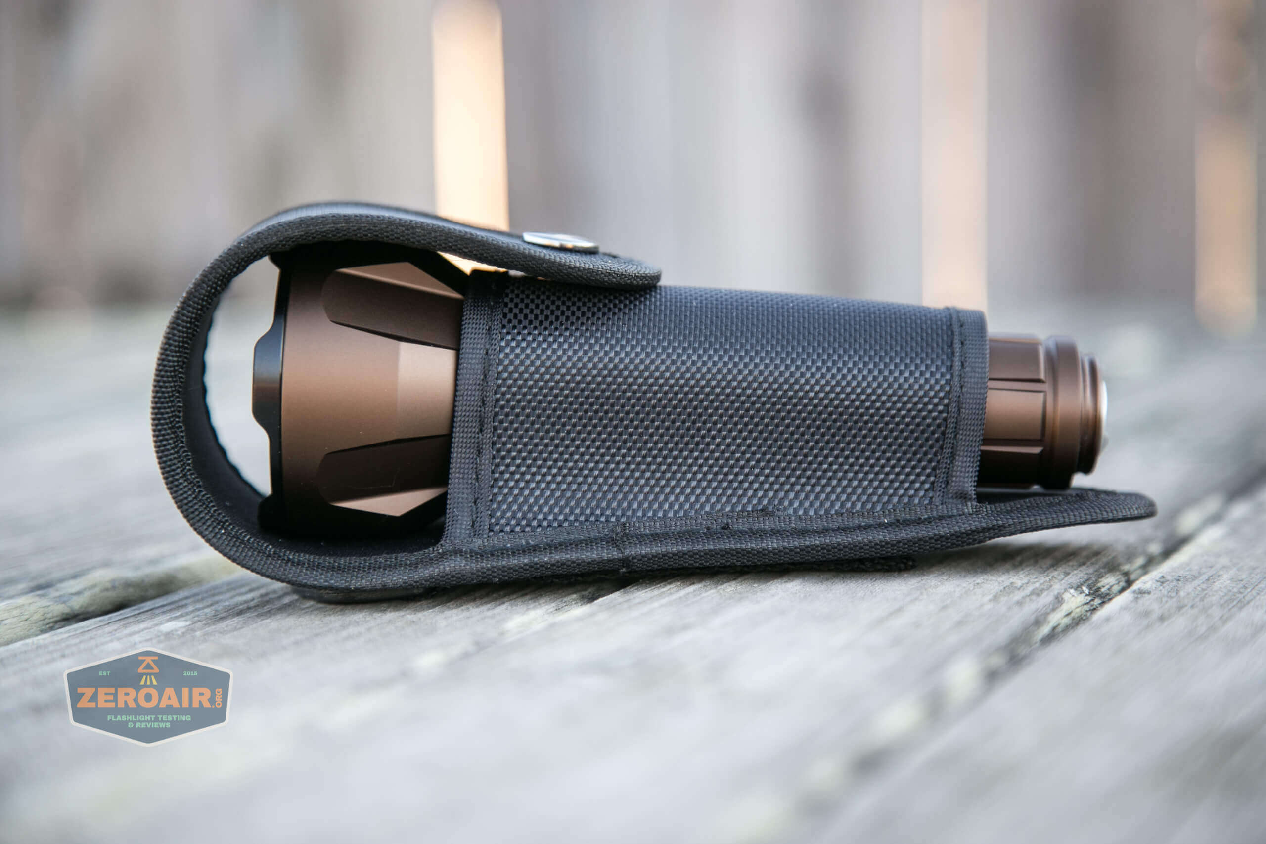 olight warrior x turbo desert tan flashlight in nylon pouch
