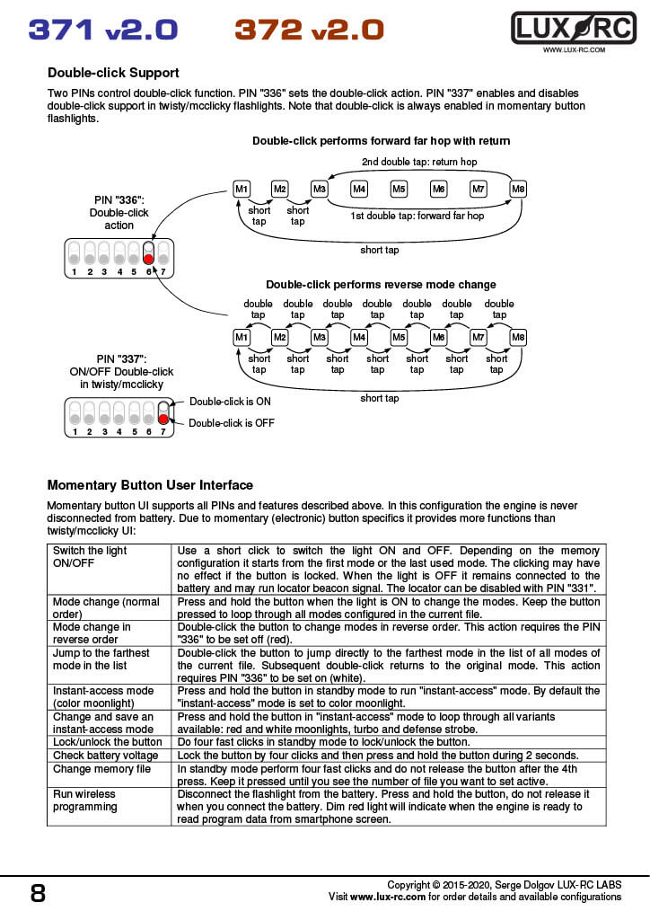 lux-rc 371 v2.0 manual page 8