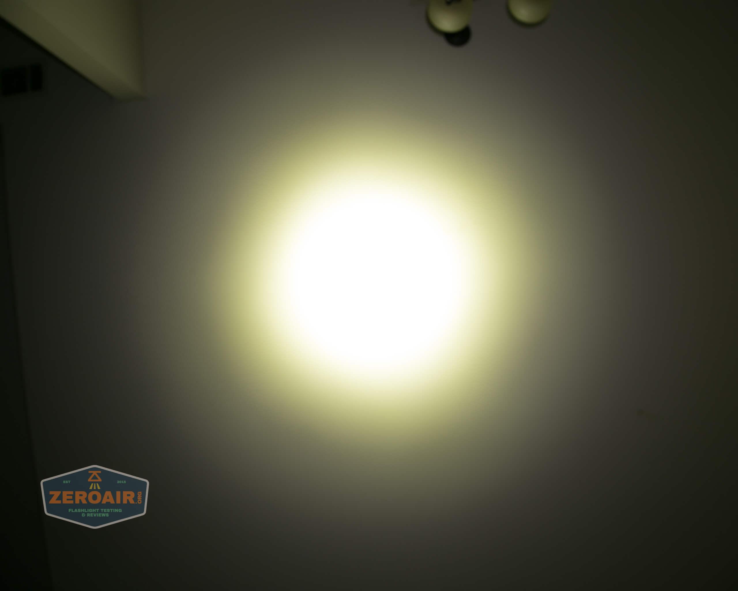 Acebeam L35 brightest tactical flashlight beamshots ceiling 5