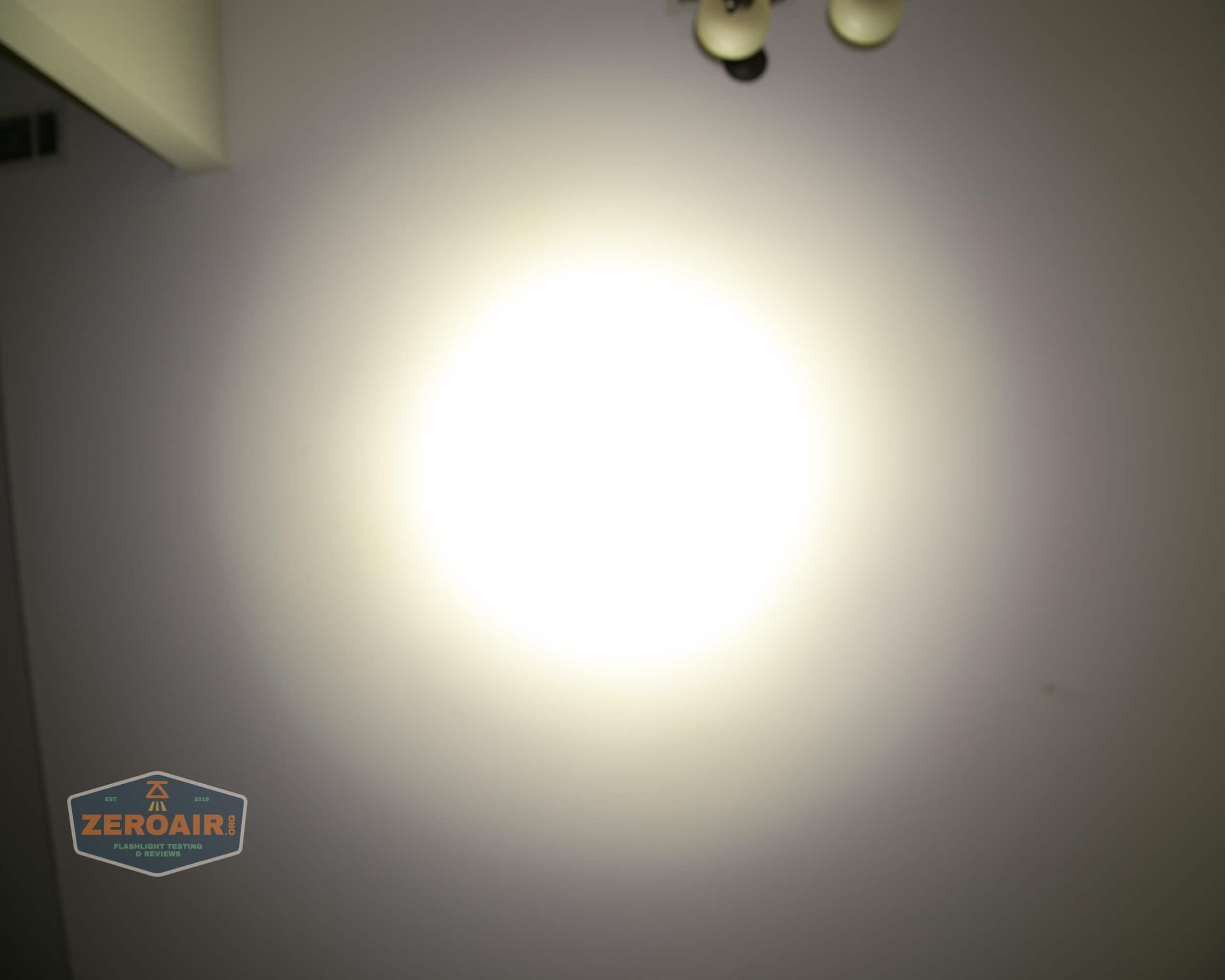 Acebeam L35 brightest tactical flashlight beamshots ceiling 6