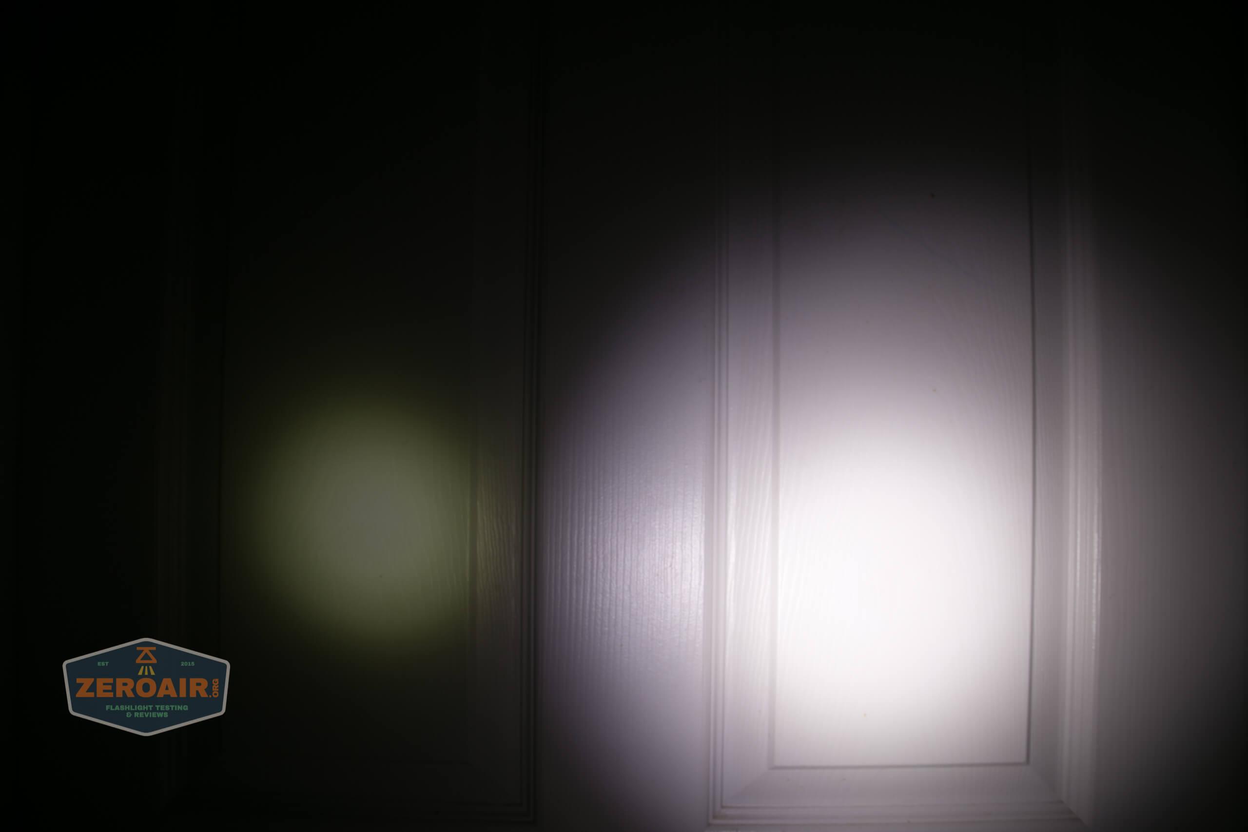Acebeam L35 brightest tactical flashlight beamshots door 1
