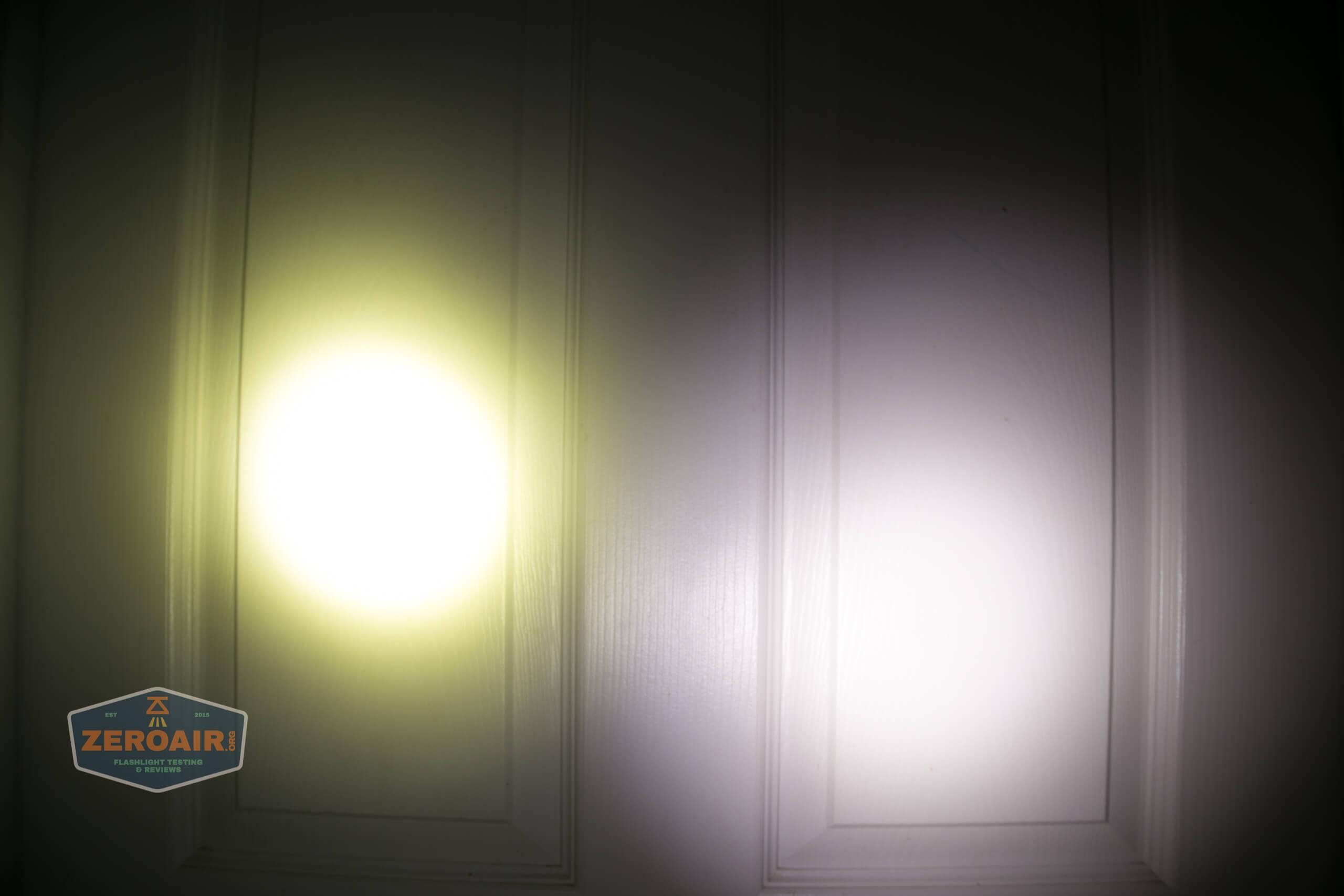 Acebeam L35 brightest tactical flashlight beamshots door 2
