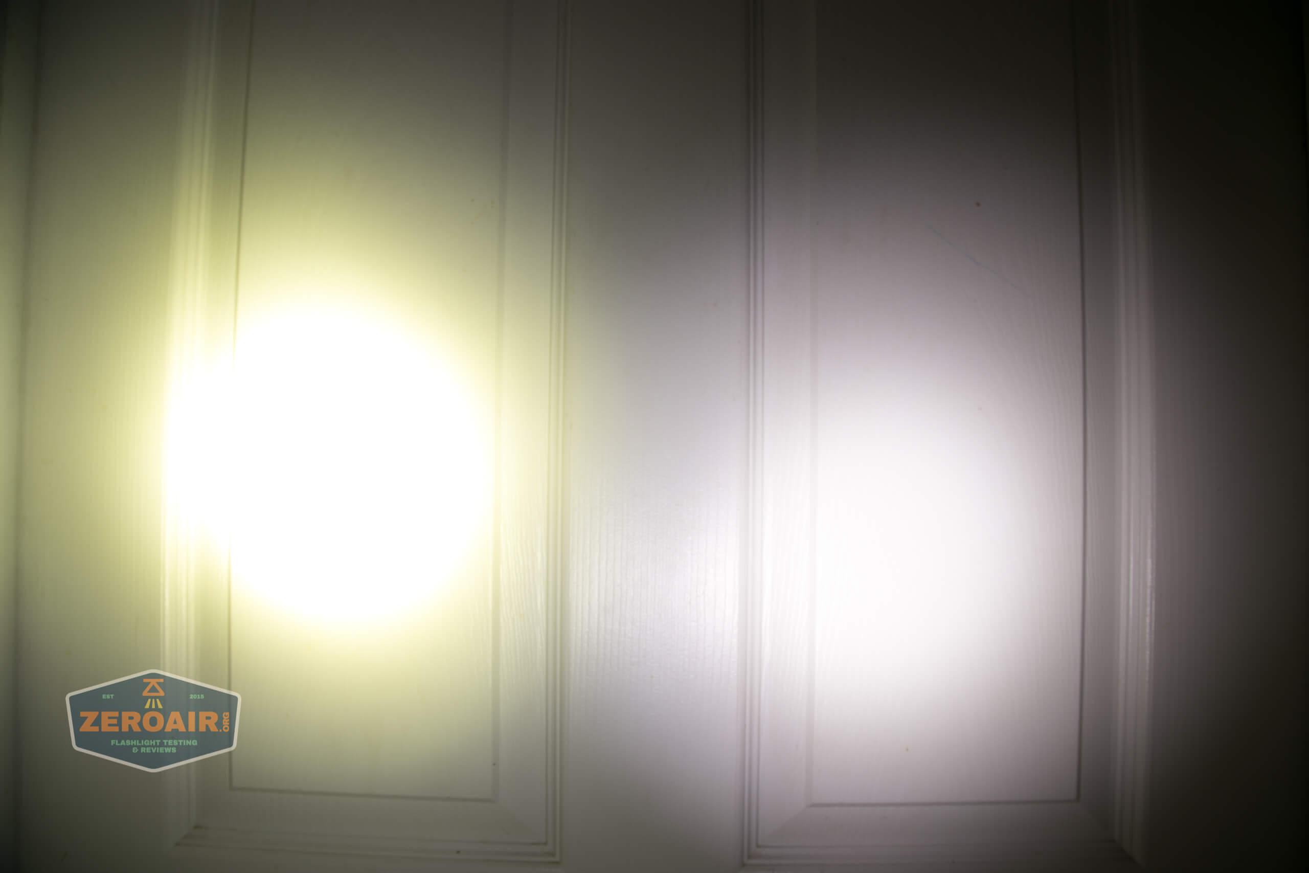 Acebeam L35 brightest tactical flashlight beamshots door 3