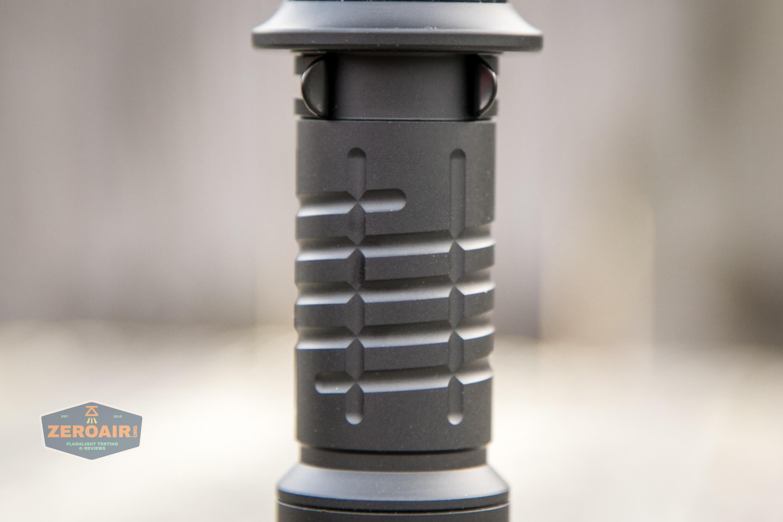 acebeam l35 flashlight body cell tube detail