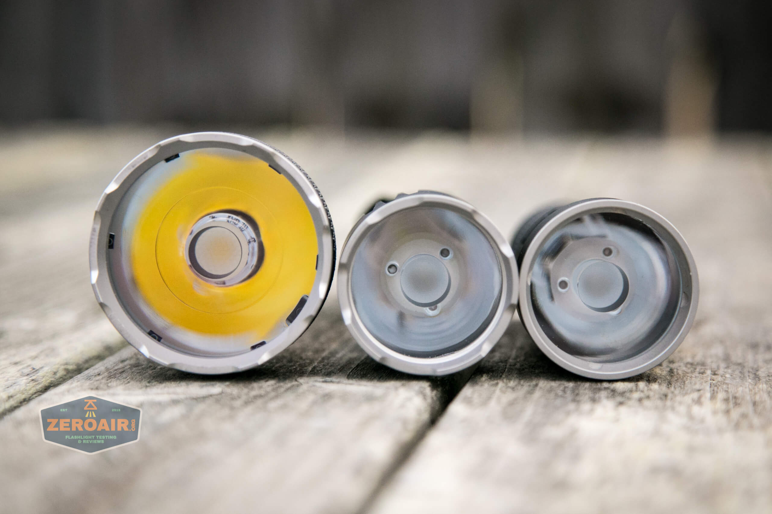 Acebeam L35 brightest tactical flashlight beside other acebeam flashlights