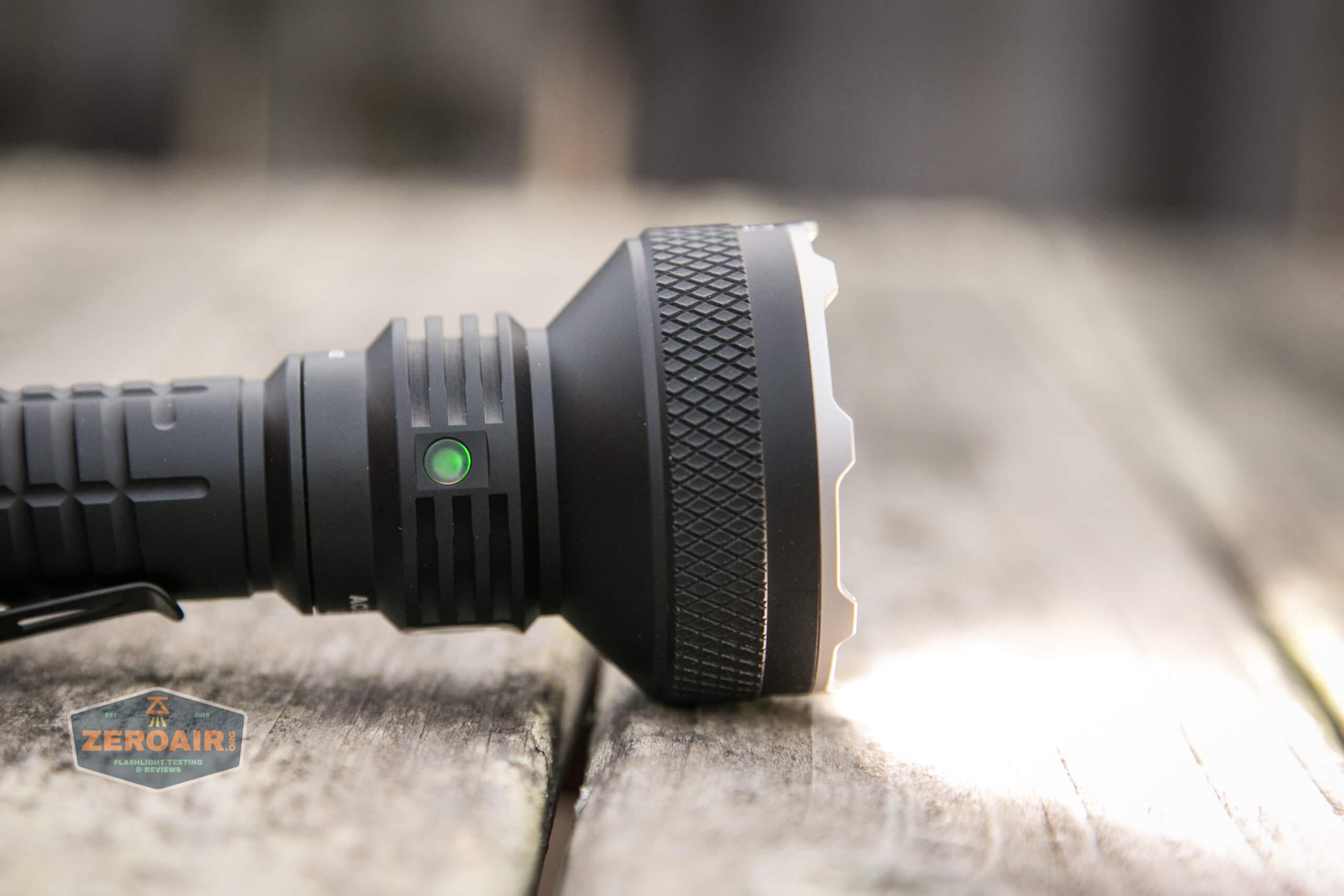 acebeam l35 flashlight indicating led on side