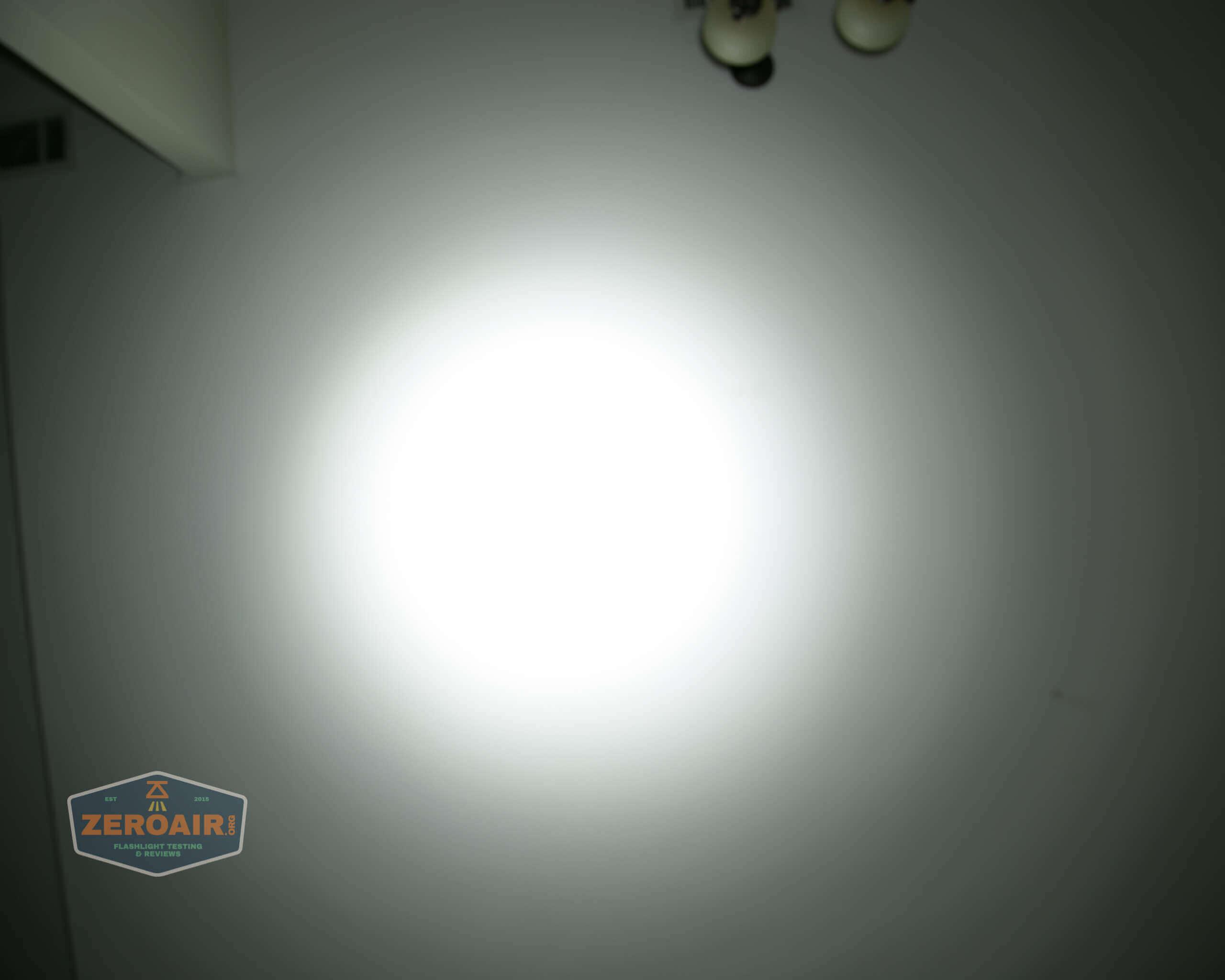 nitebeam x12uv flashlight beamshots ceiling high