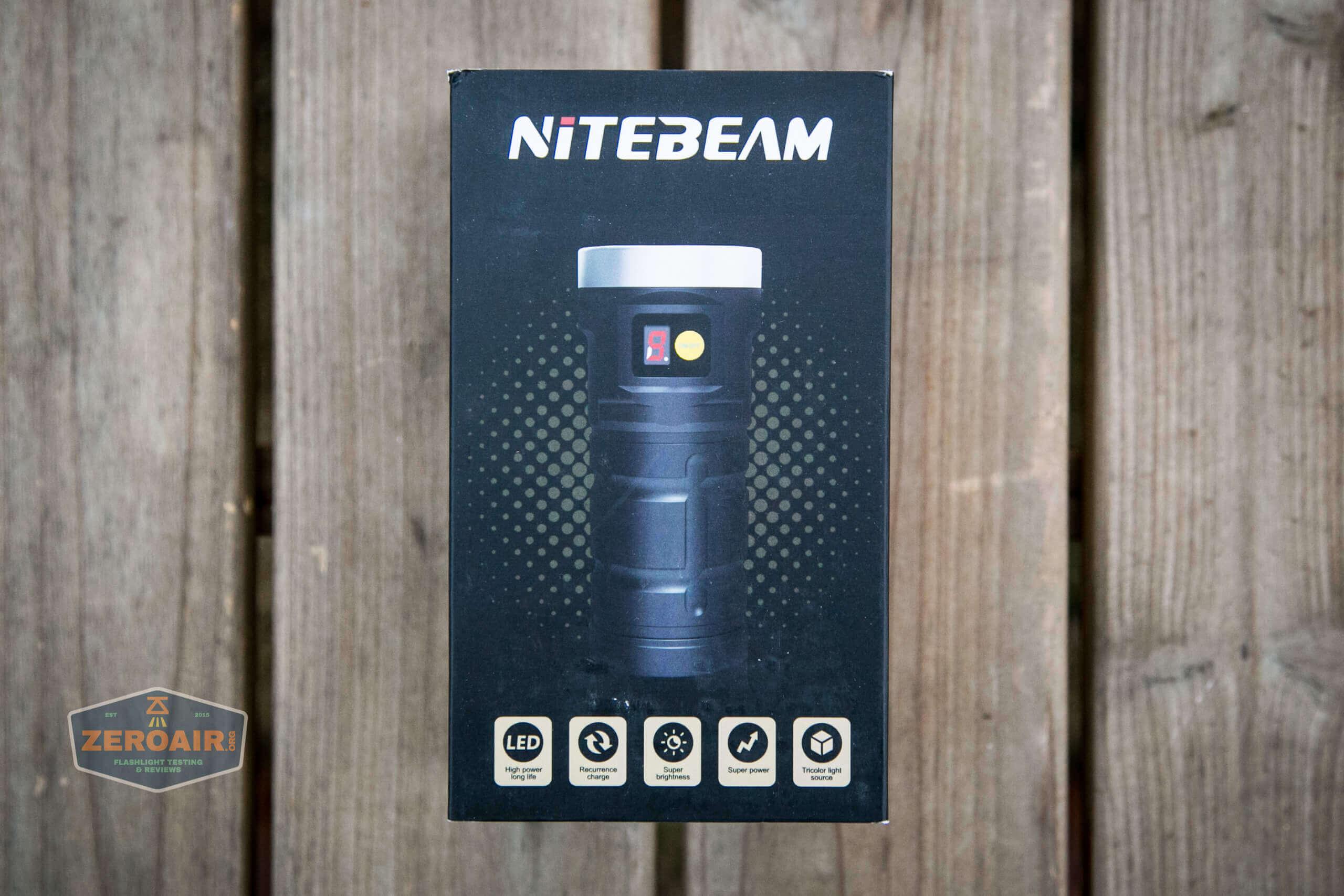 nitebeam x12uv flashlight box