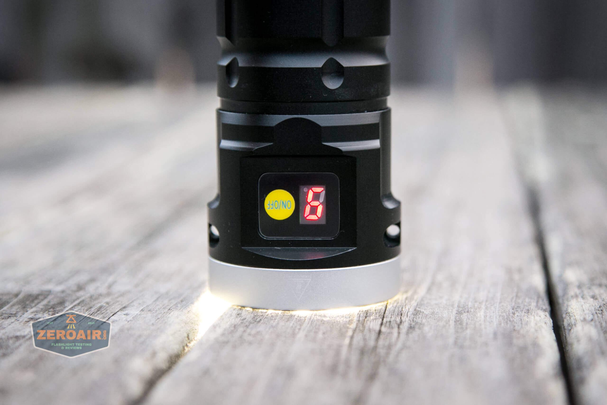 nitebeam x12uv flashlight battery level