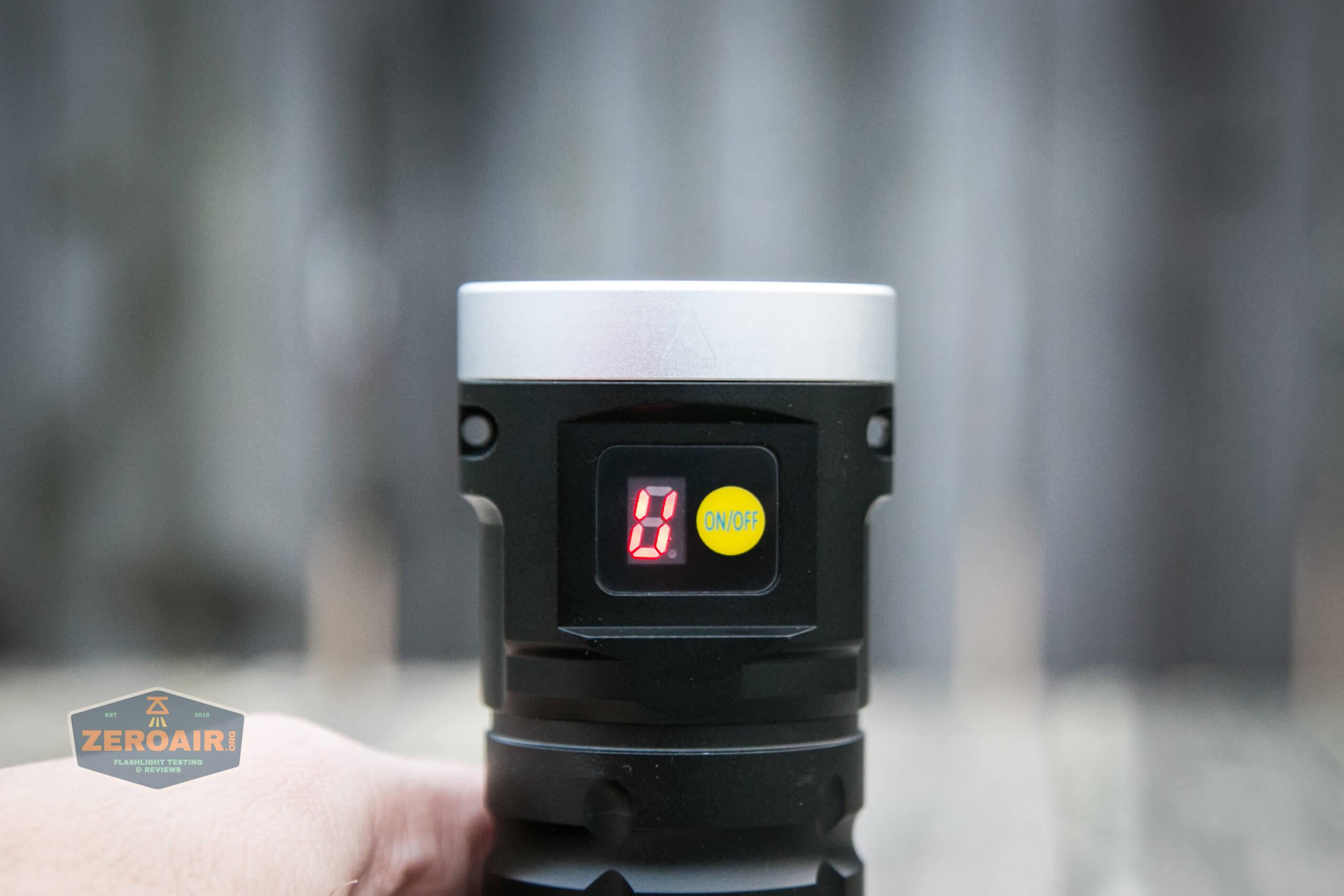 nitebeam x12uv flashlight displaying U for UV