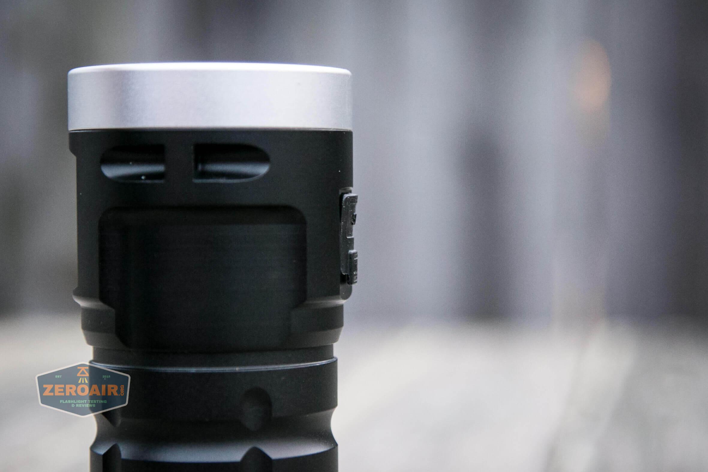 nitebeam x12uv flashlight charge port profile