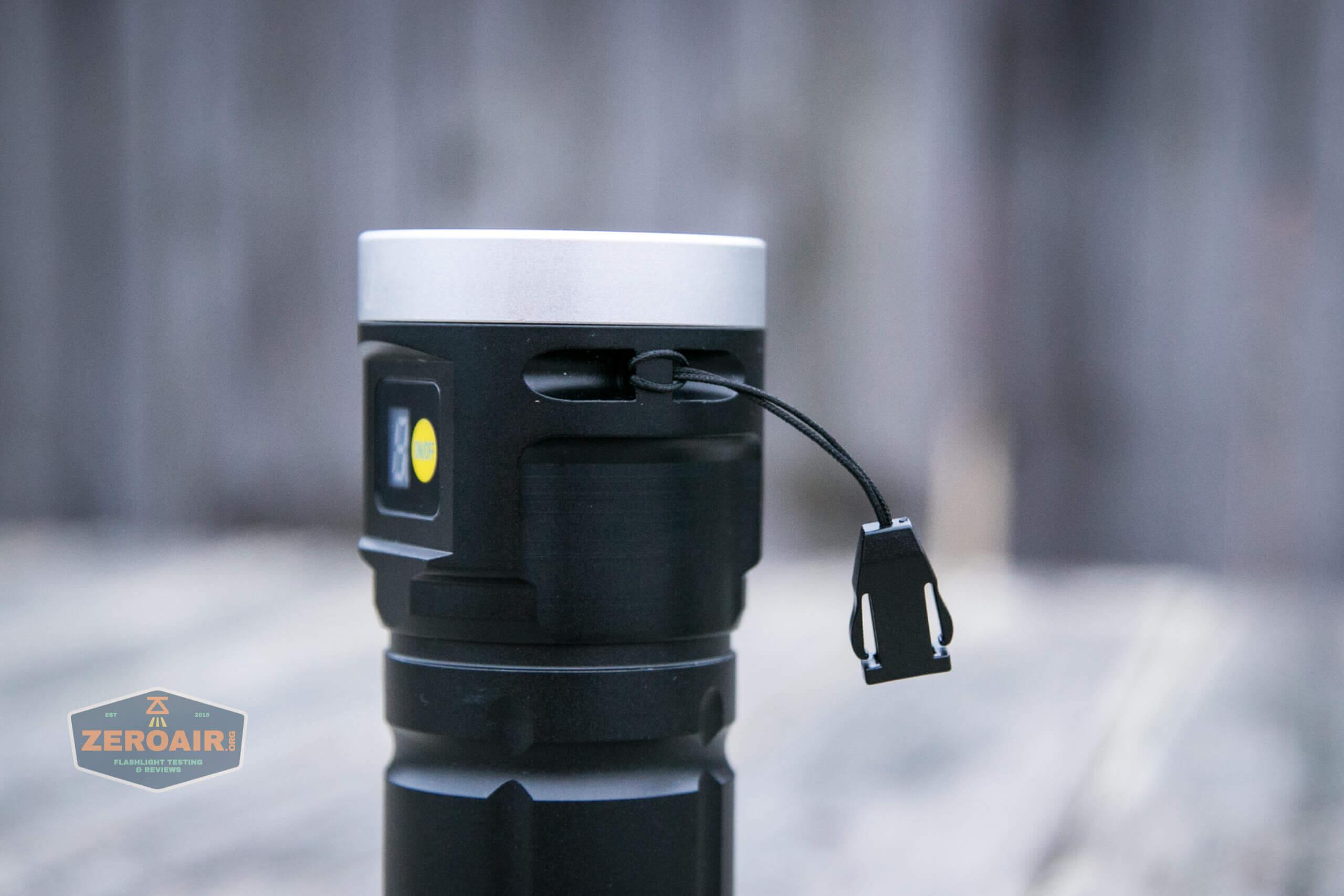 nitebeam x12uv flashlight lanyard installed