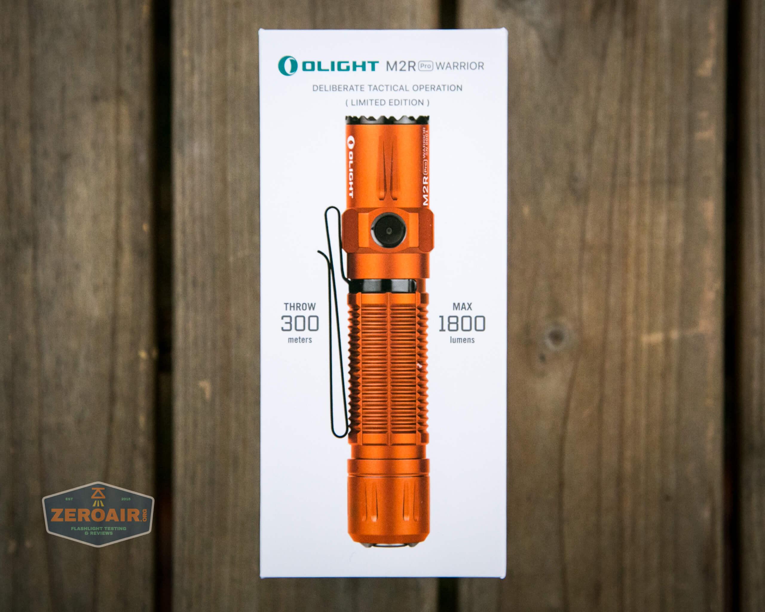 Olight M2R Pro Warrior Orange box