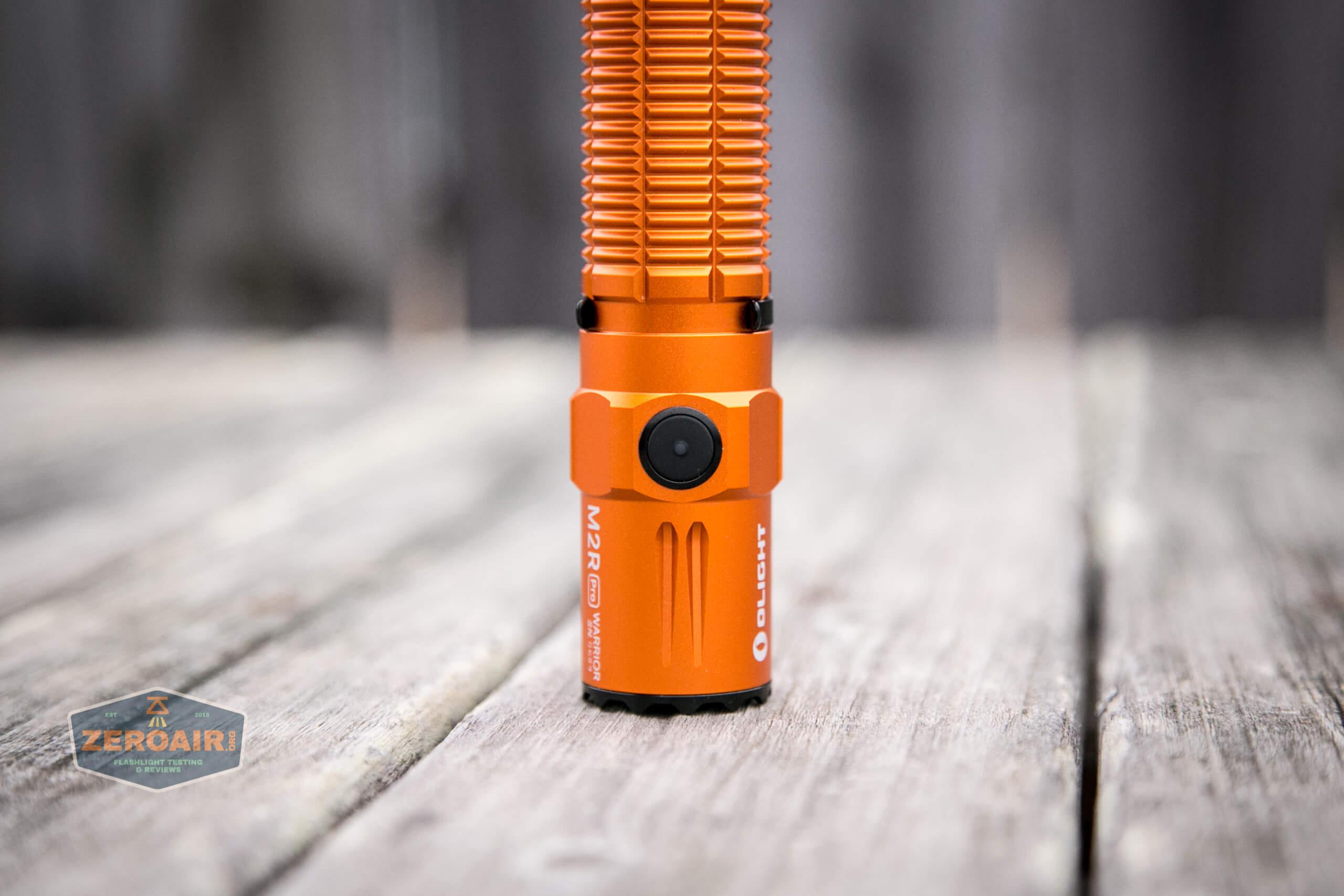 Olight M2R Pro Warrior Orange headstanding