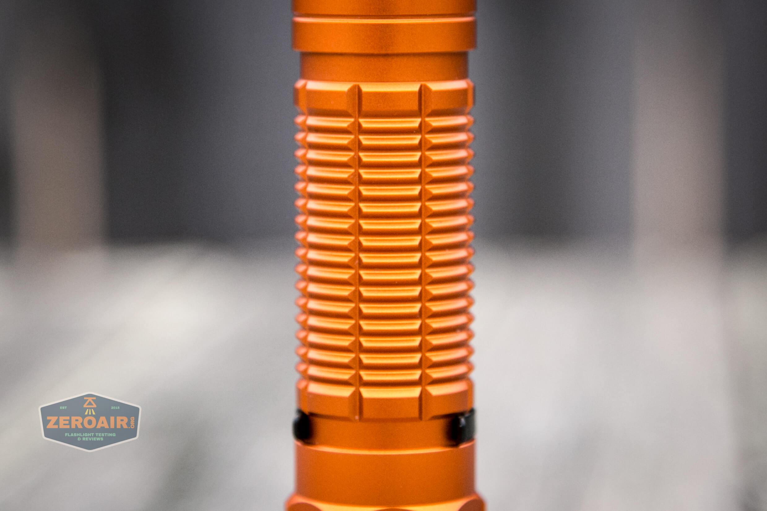 Olight M2R Pro Warrior Orange body detail