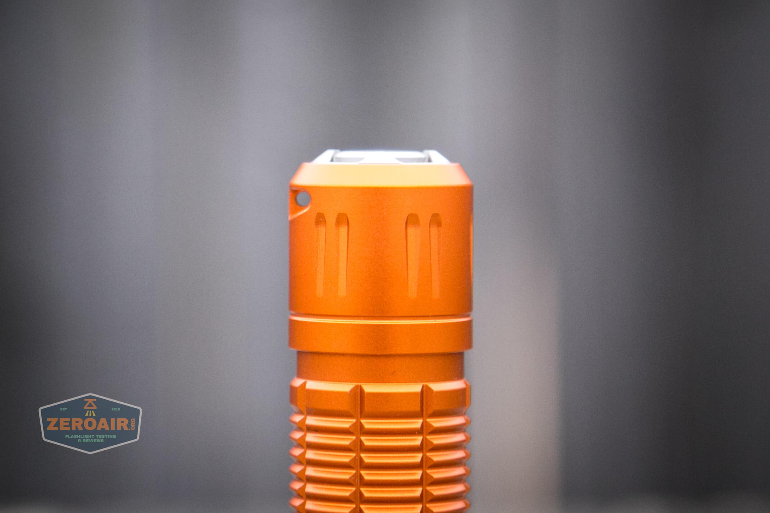 Olight M2R Pro Warrior Orange lanyard hole