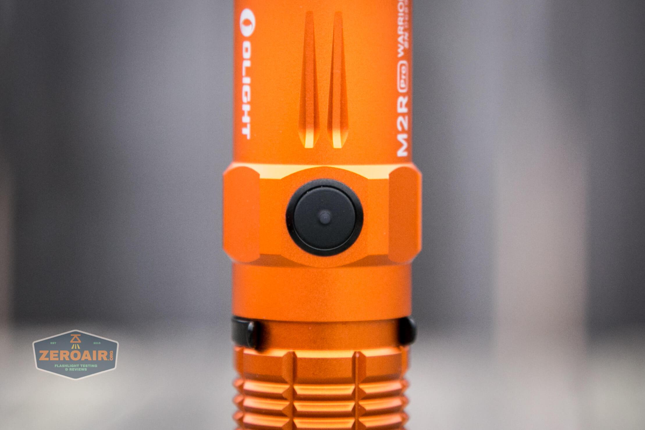 Olight M2R Pro Warrior Orange eswitch indicating