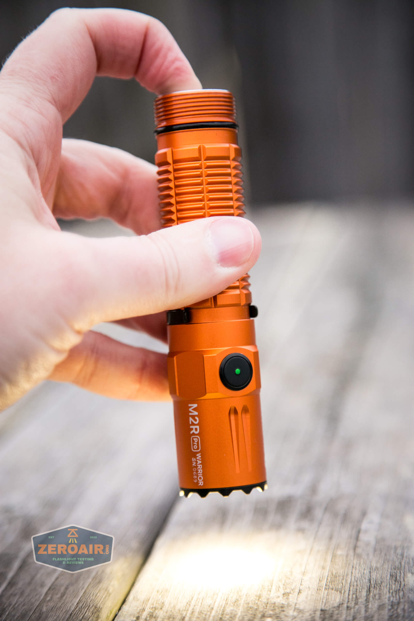 Olight M2R Pro Warrior Orange works without tailcap