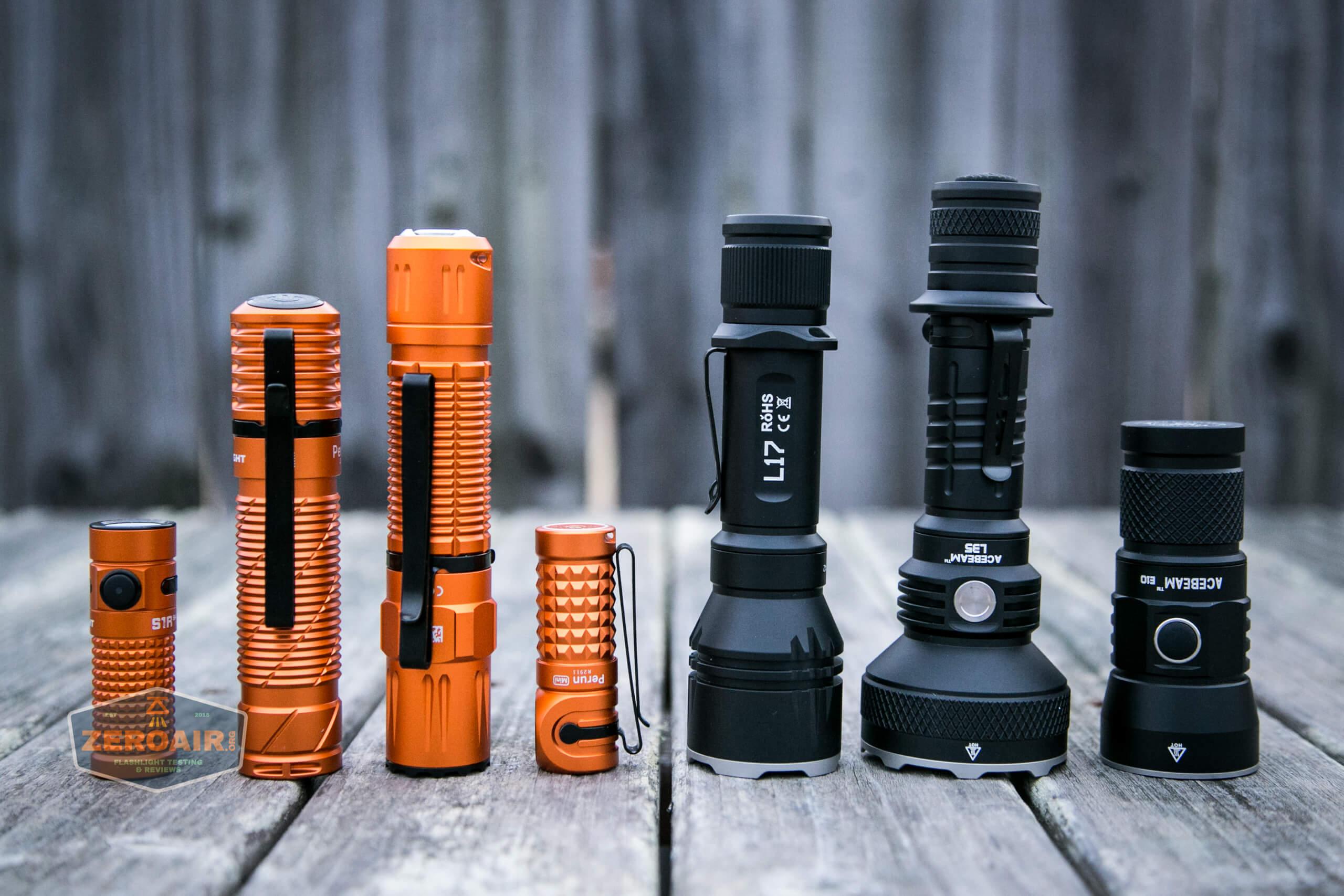 Olight M2R Pro Warrior Orange with black acebeams