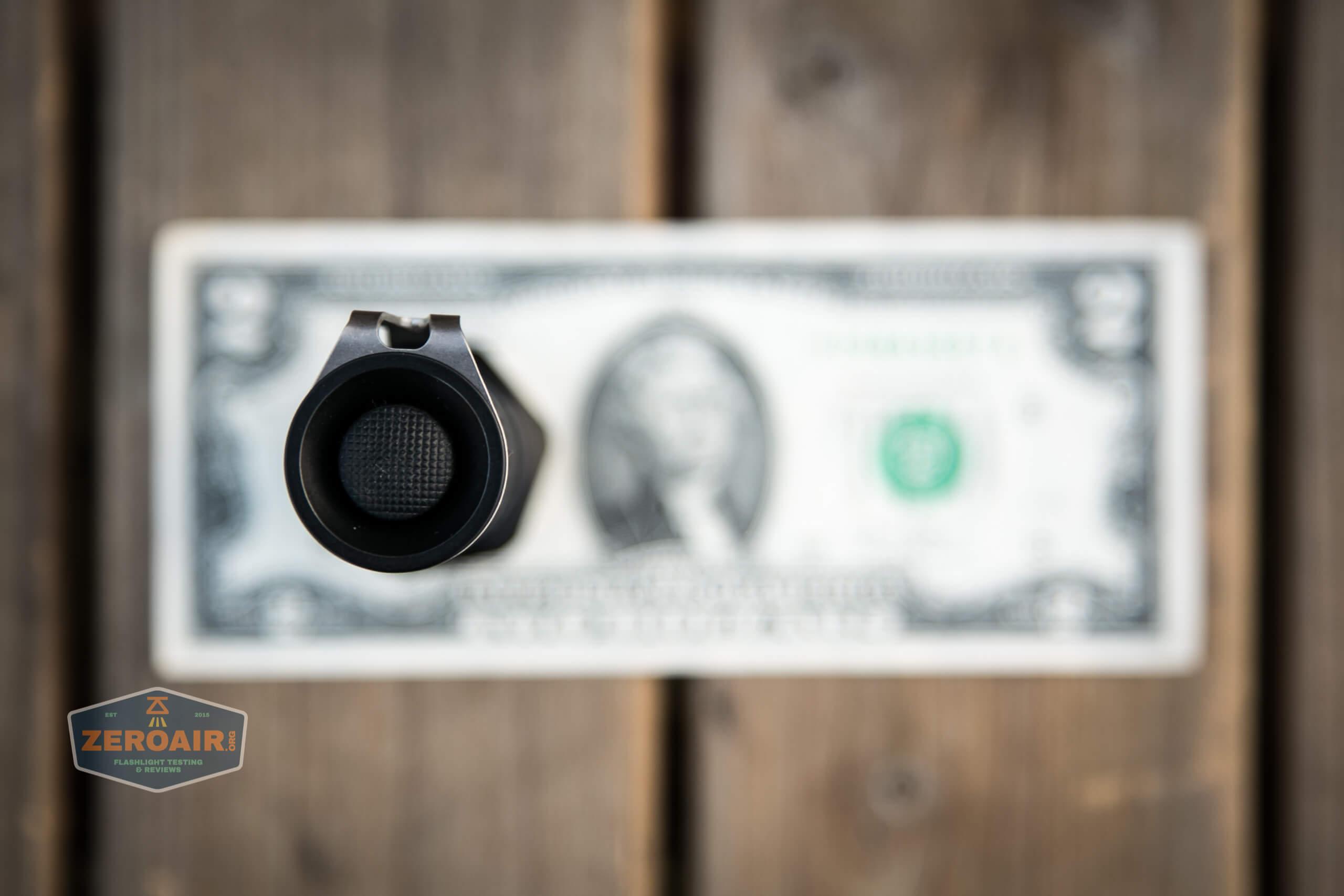 18650 setup on two dollar bill
