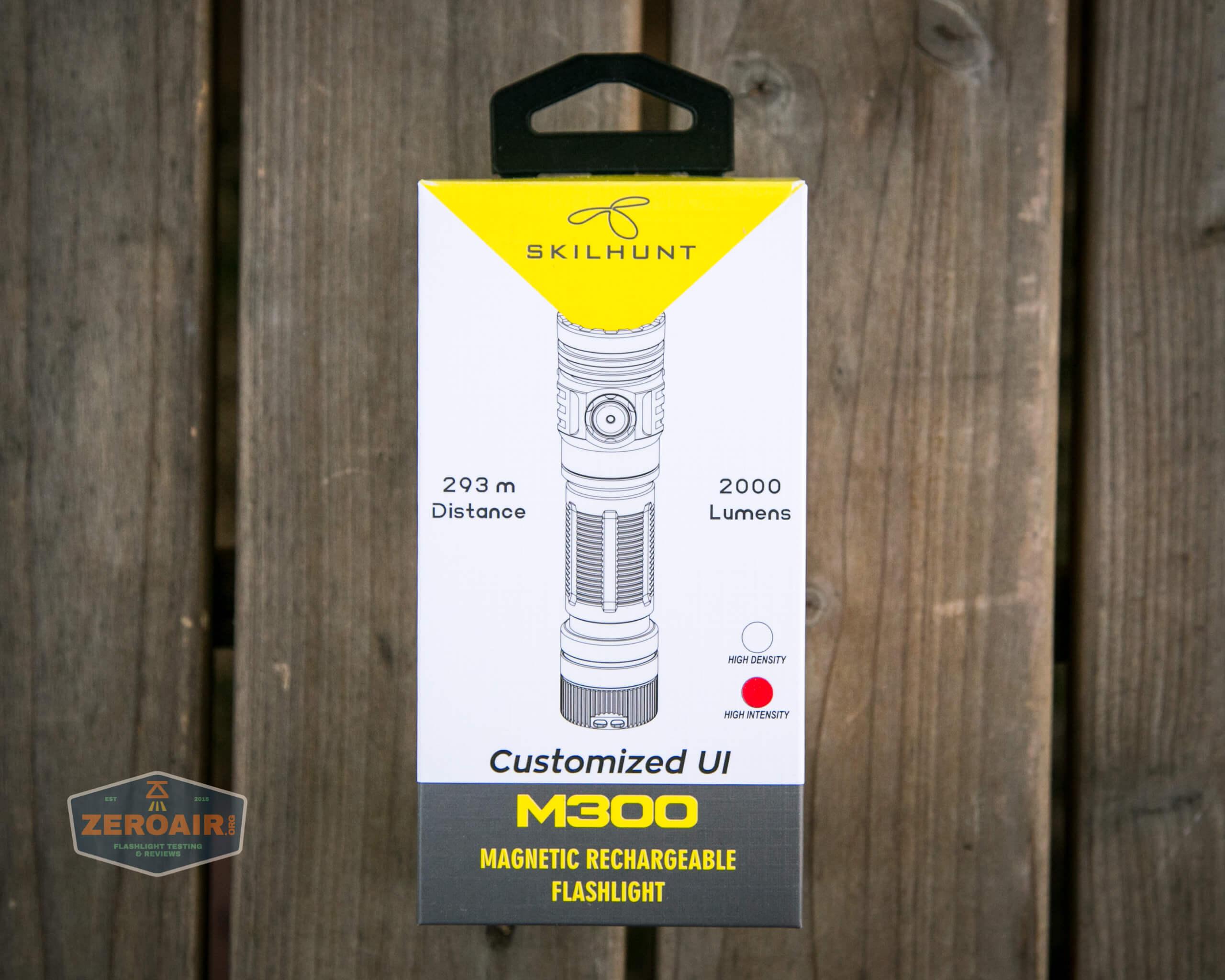 skilhunt m300 18650 flashlight box