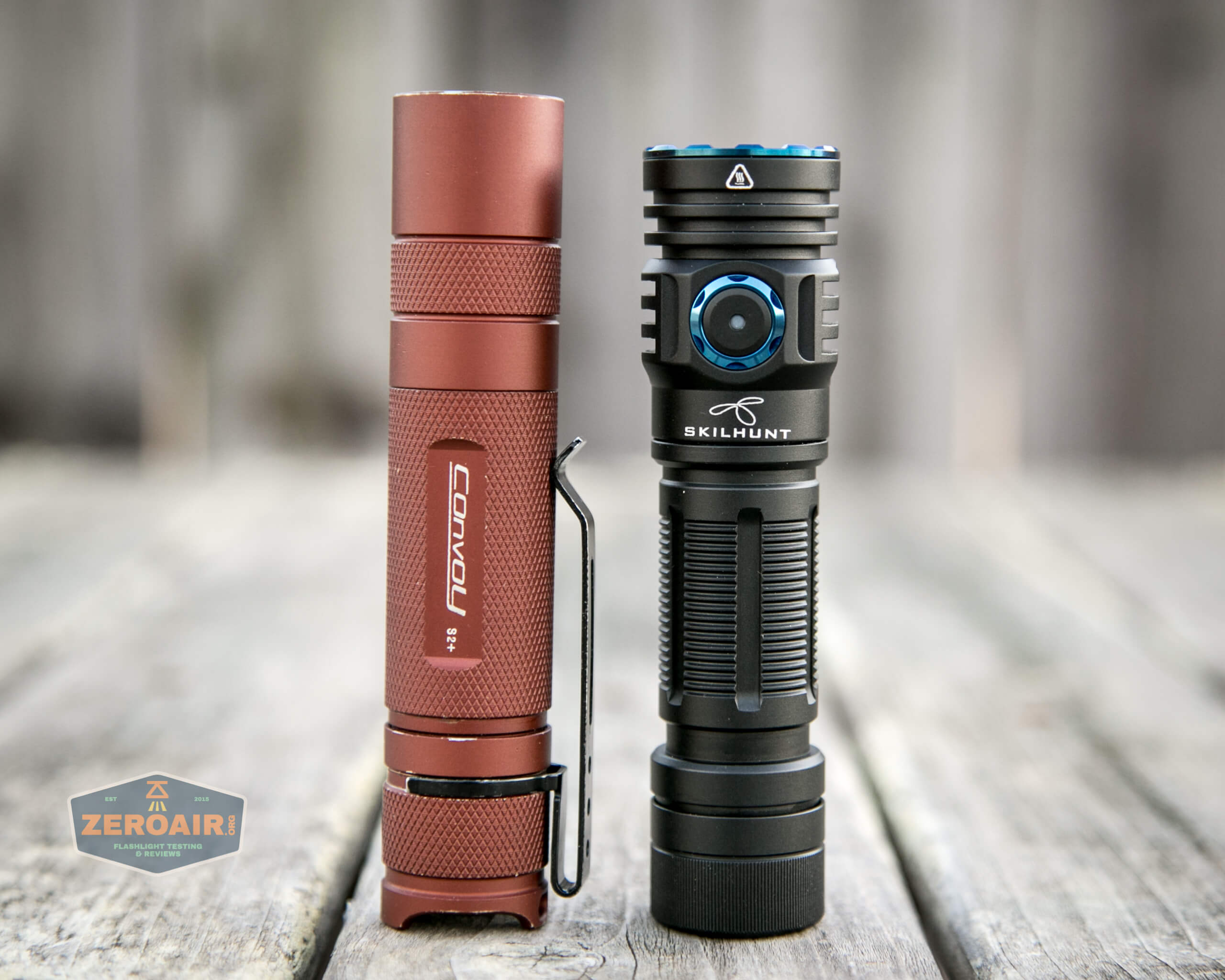 skilhunt m300 18650 flashlight with convoy s2+