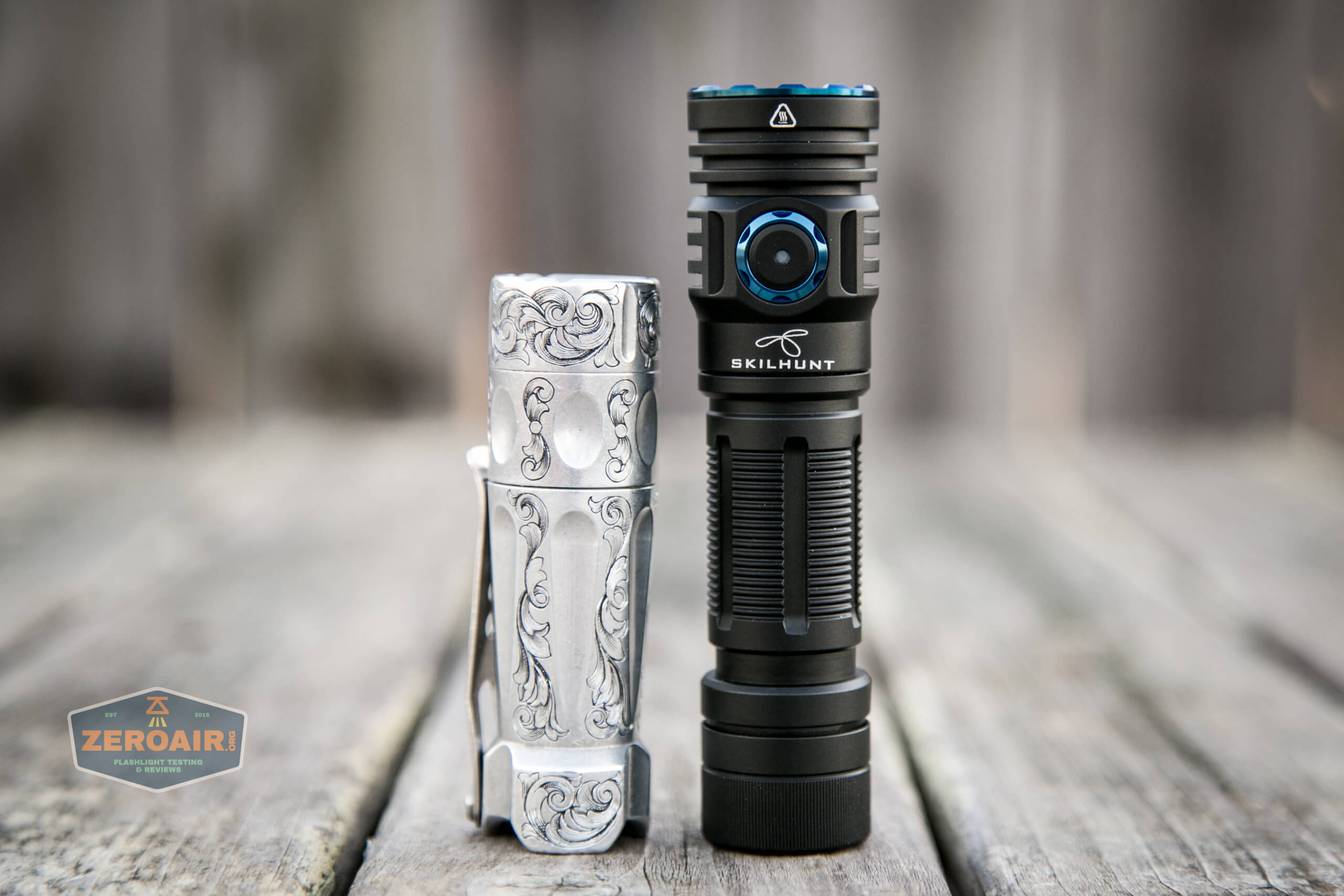 skilhunt m300 18650 flashlight with torchlab boss 35