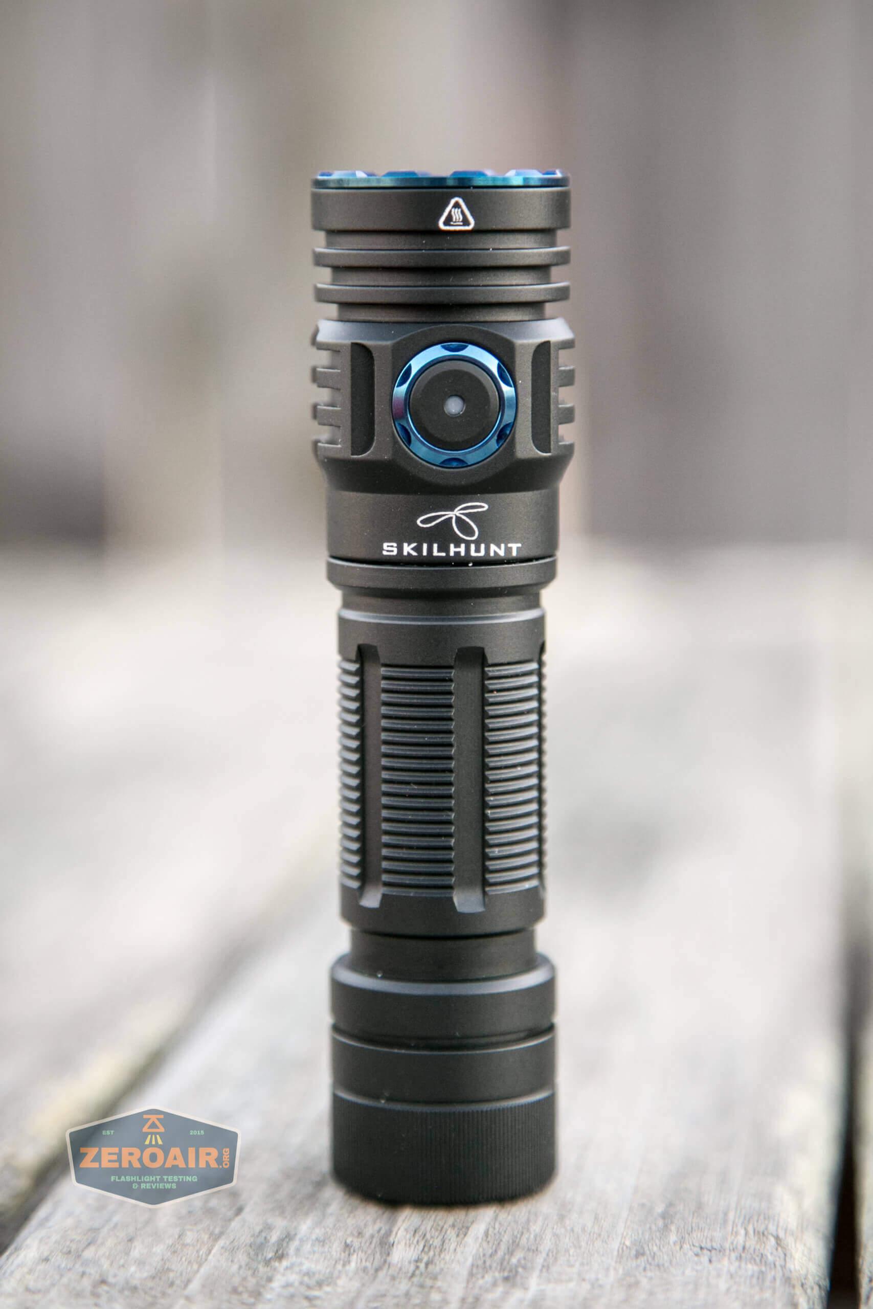 skilhunt m300 18650 flashlight standing