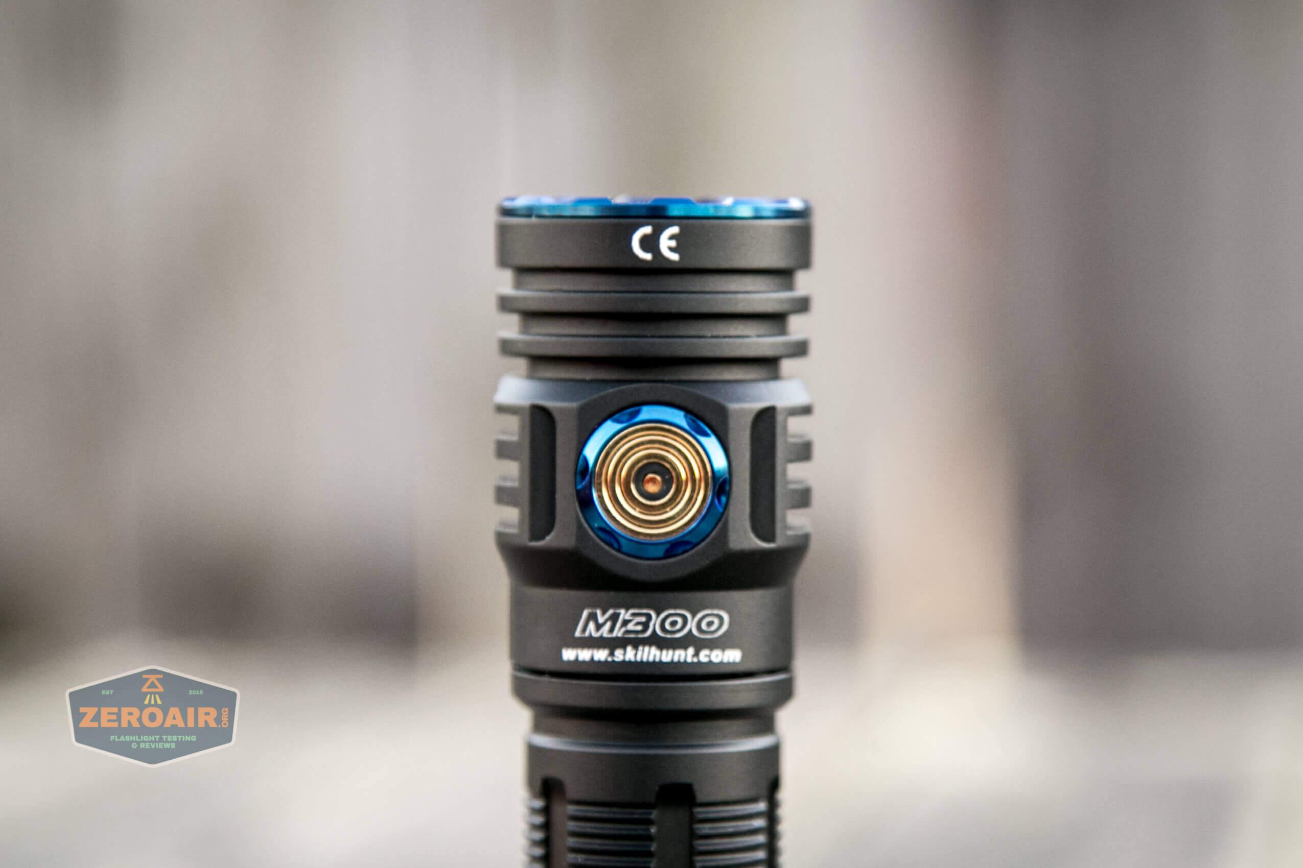 skilhunt m300 18650 flashlight charge port