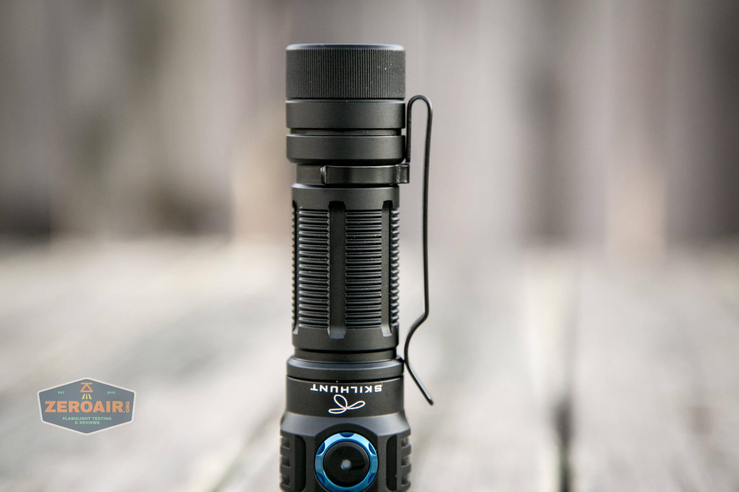 skilhunt m300 18650 flashlight pocket clip