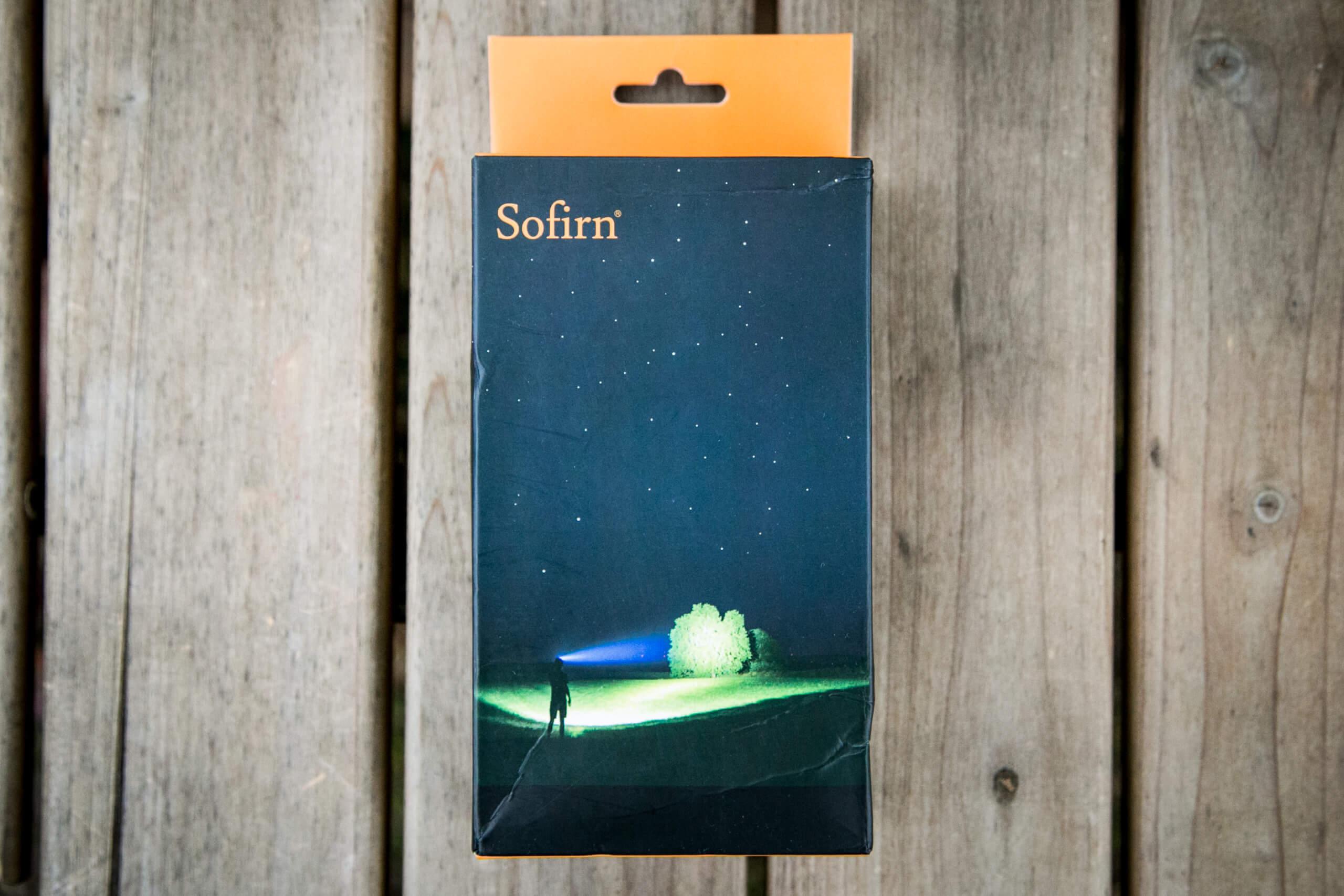 sofirn sp31uv ultraviolet 18650 flashlight box