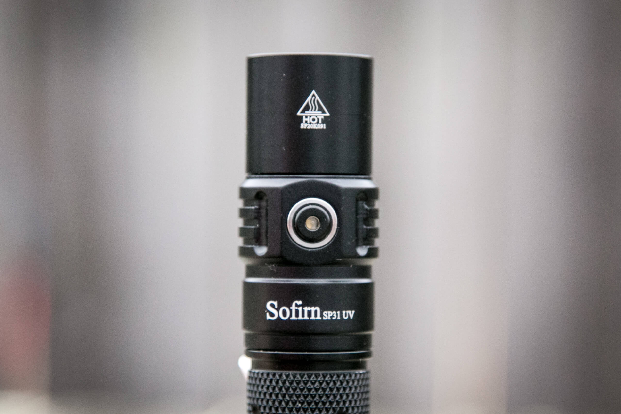 sofirn sp31uv ultraviolet 18650 flashlight side e-switch