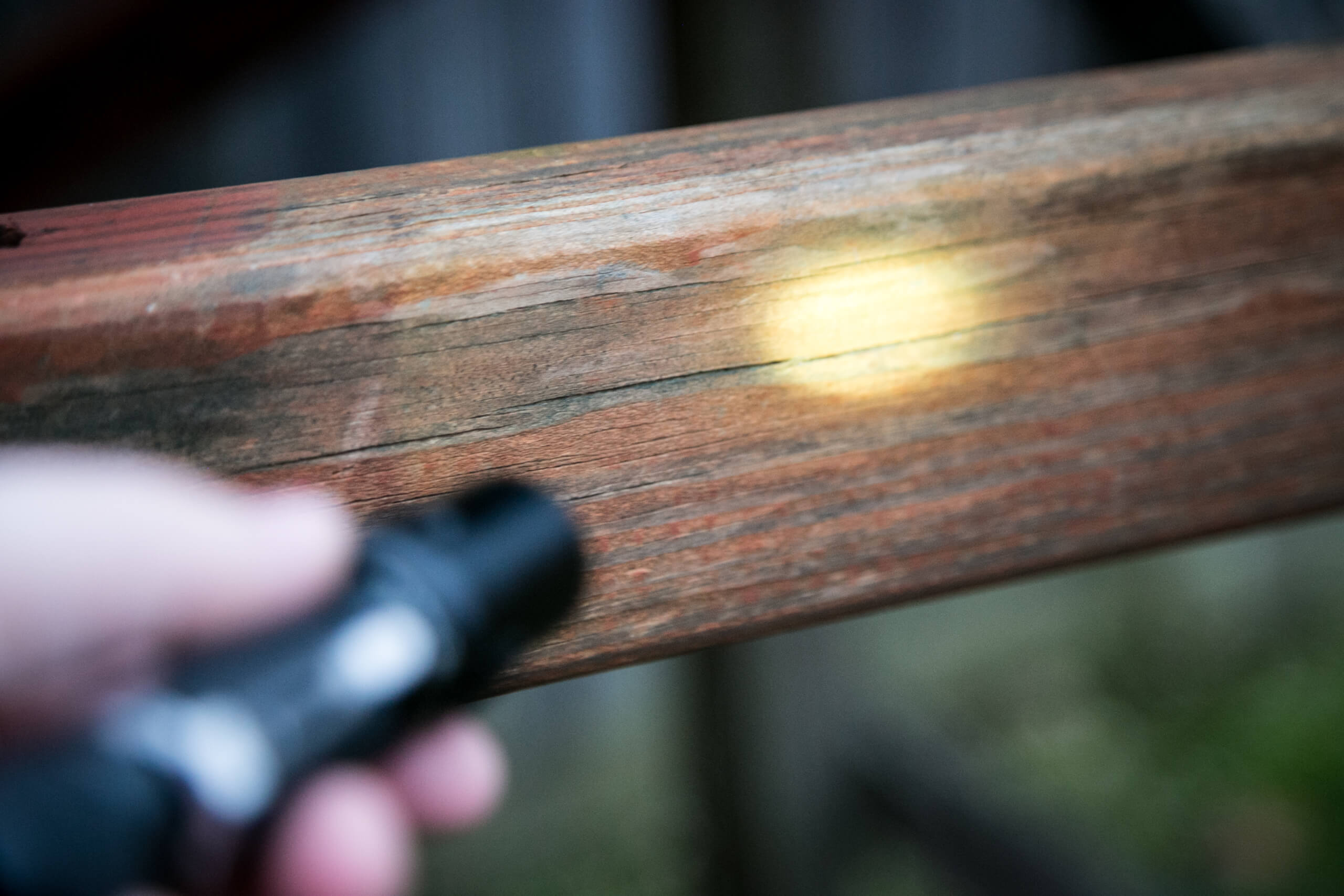 sofirn sp31uv ultraviolet 18650 flashlight beamshot