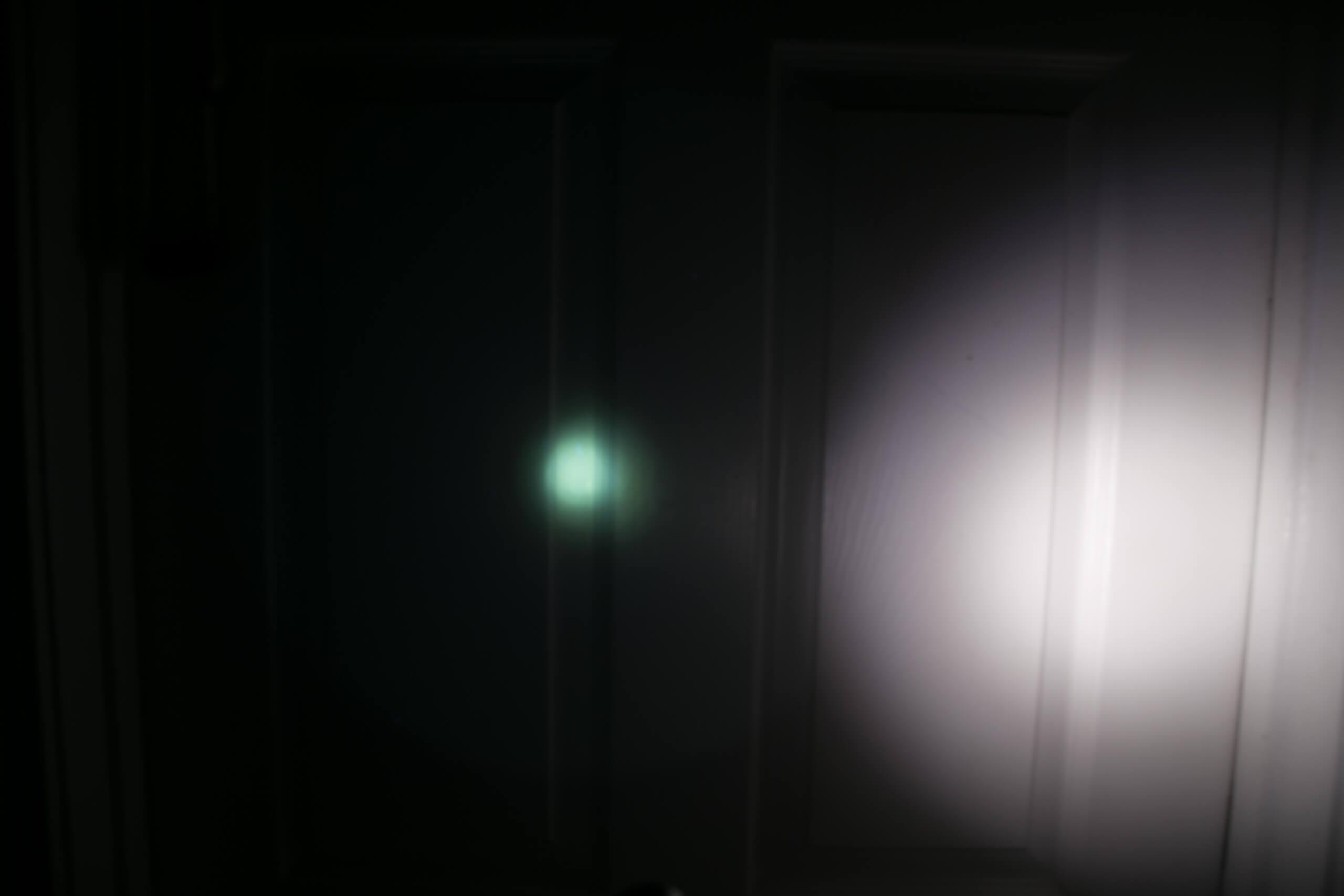 sofirn sp31uv ultraviolet 18650 flashlight beamshots door high