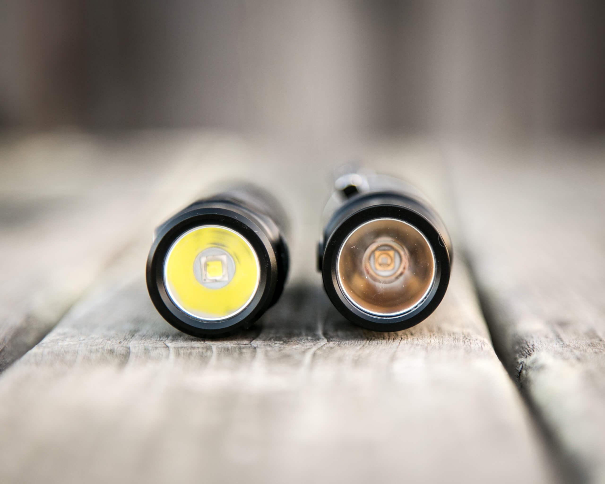 sofirn sp31uv ultraviolet 18650 flashlight beside sofirn sc31 pro