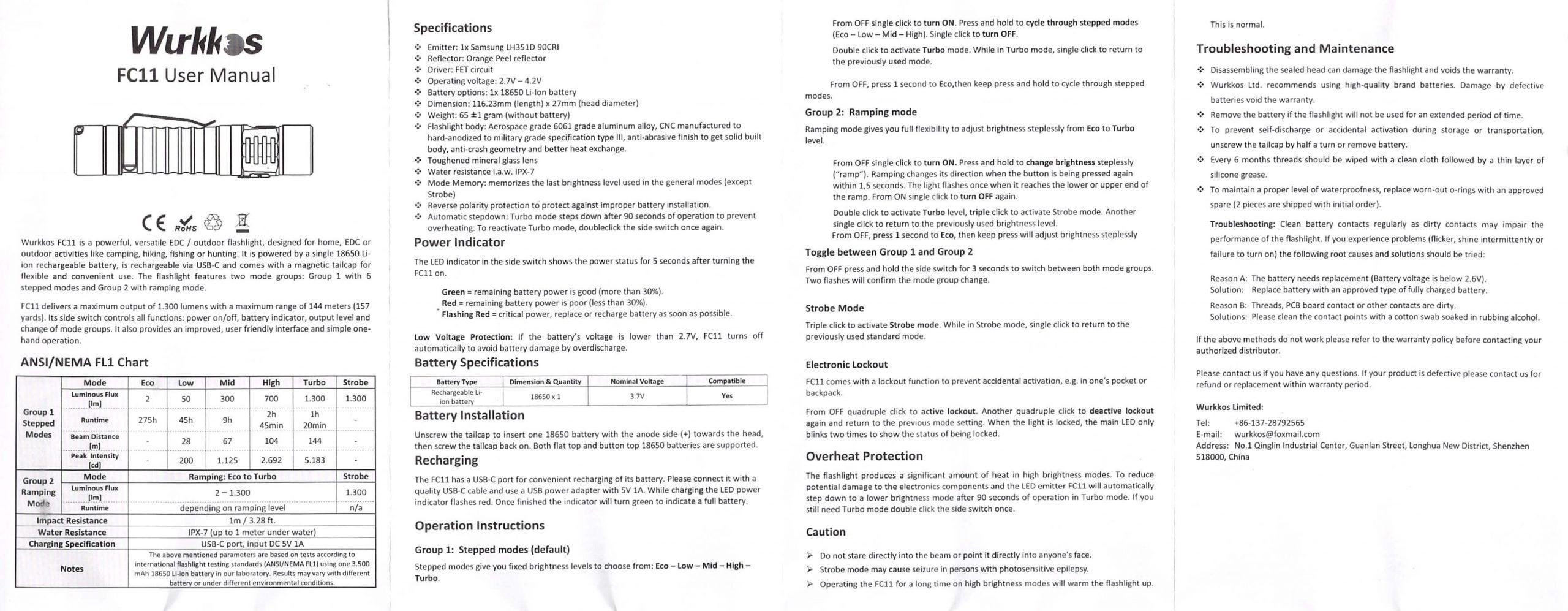 wurkkos fc11 flashlight manual