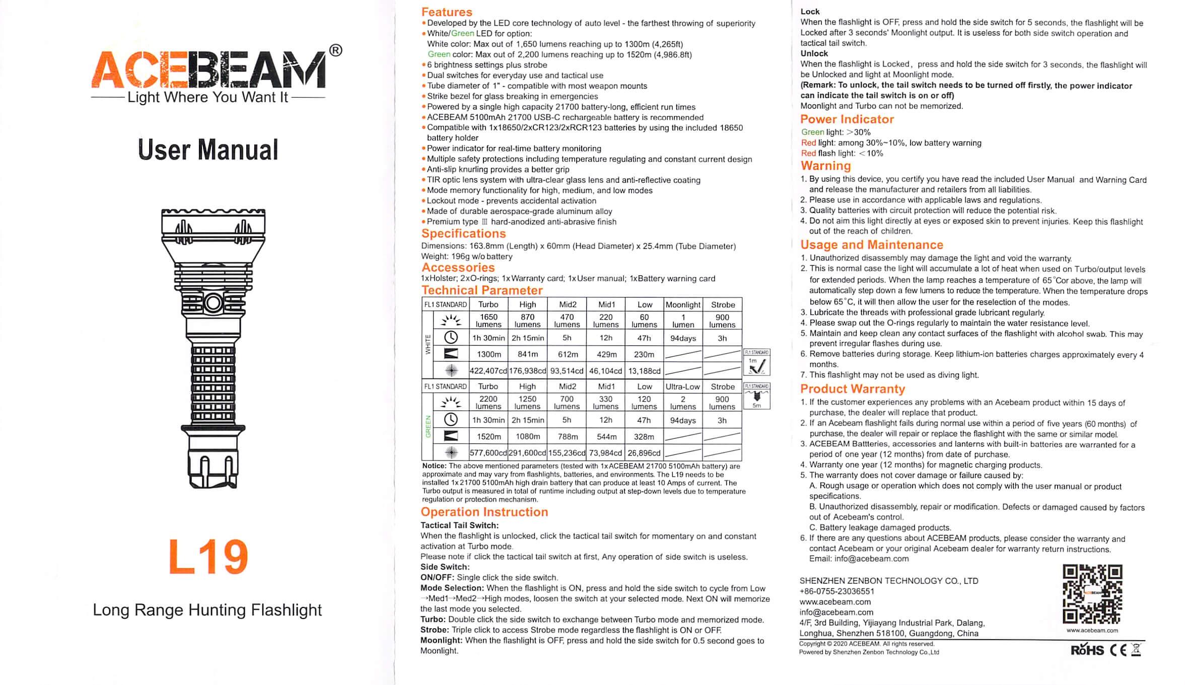 acebeam l19 manual