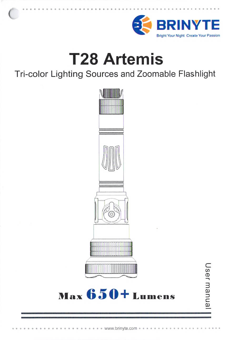 Brinyte T28 Artemis Zoomy 1
