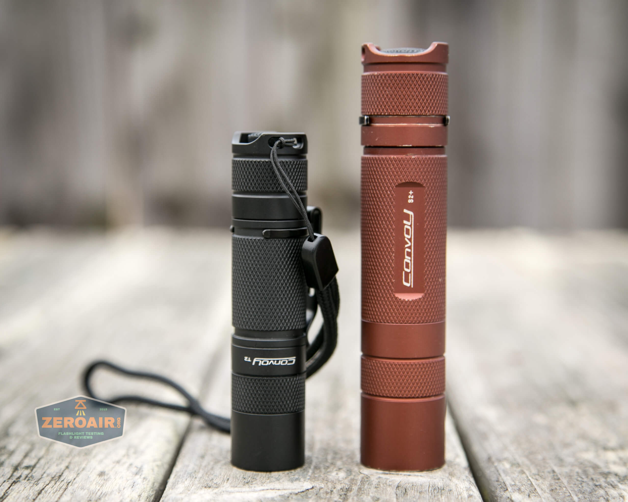convoy t2 updated 14500/AA flashlight beside convoy s2+