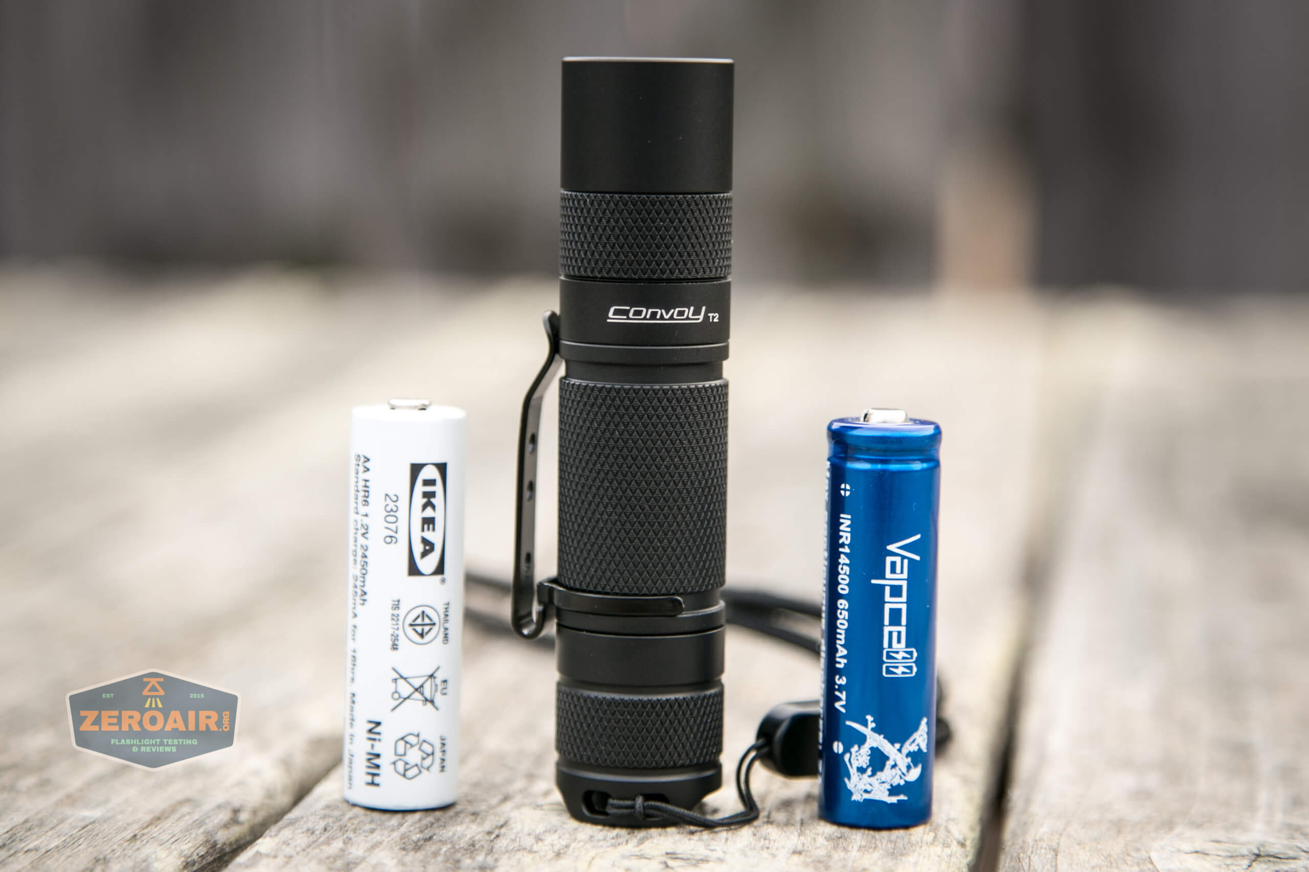 convoy t2 updated 14500/AA flashlight both cells