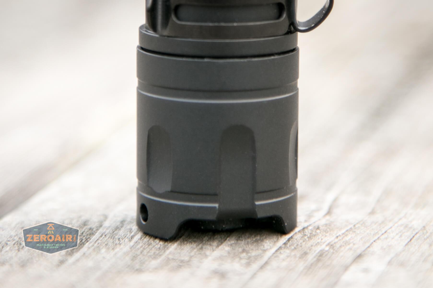Cyansky P25 Flashlight top down tailcap