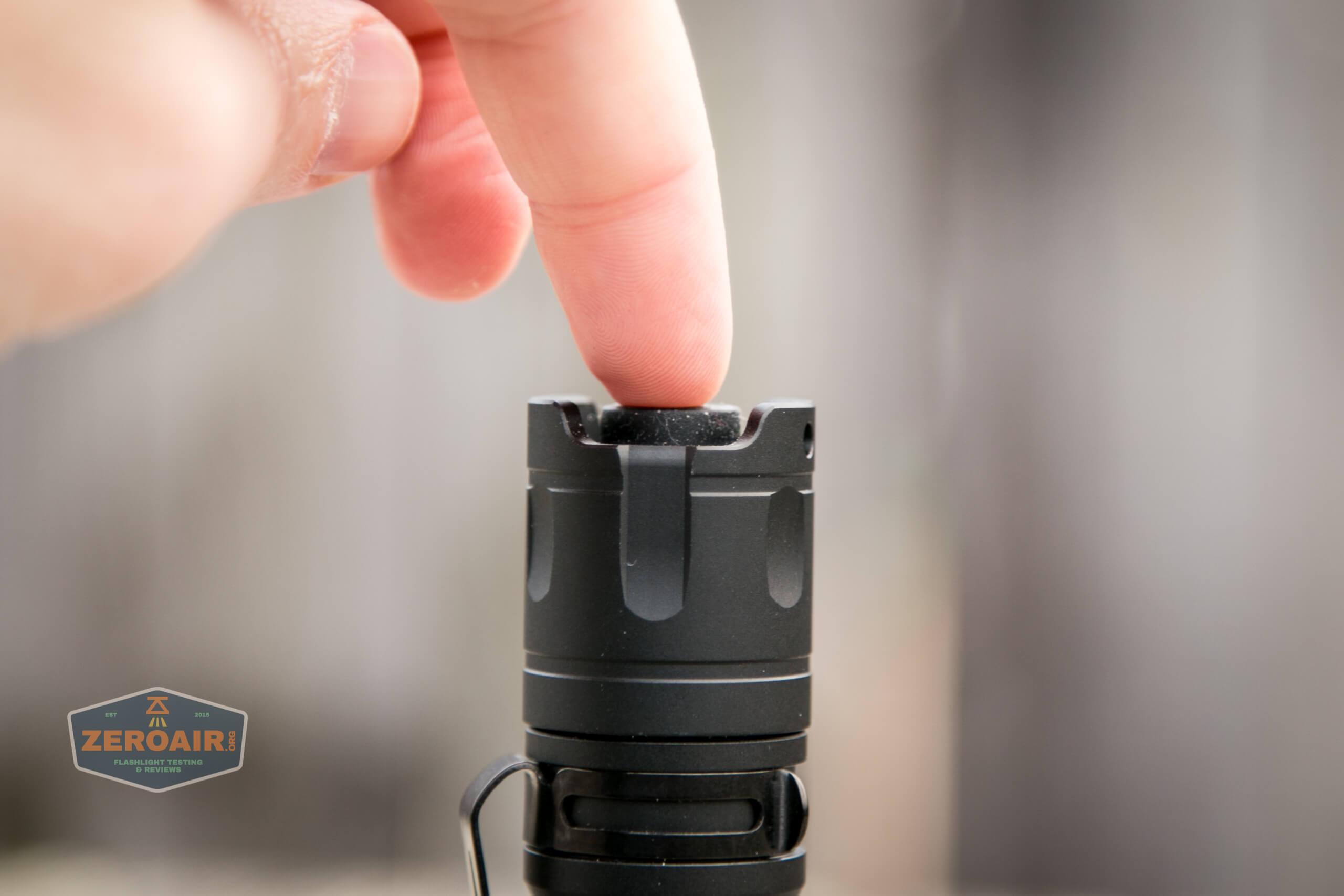 Cyansky P25 Flashlight tail switch actuation